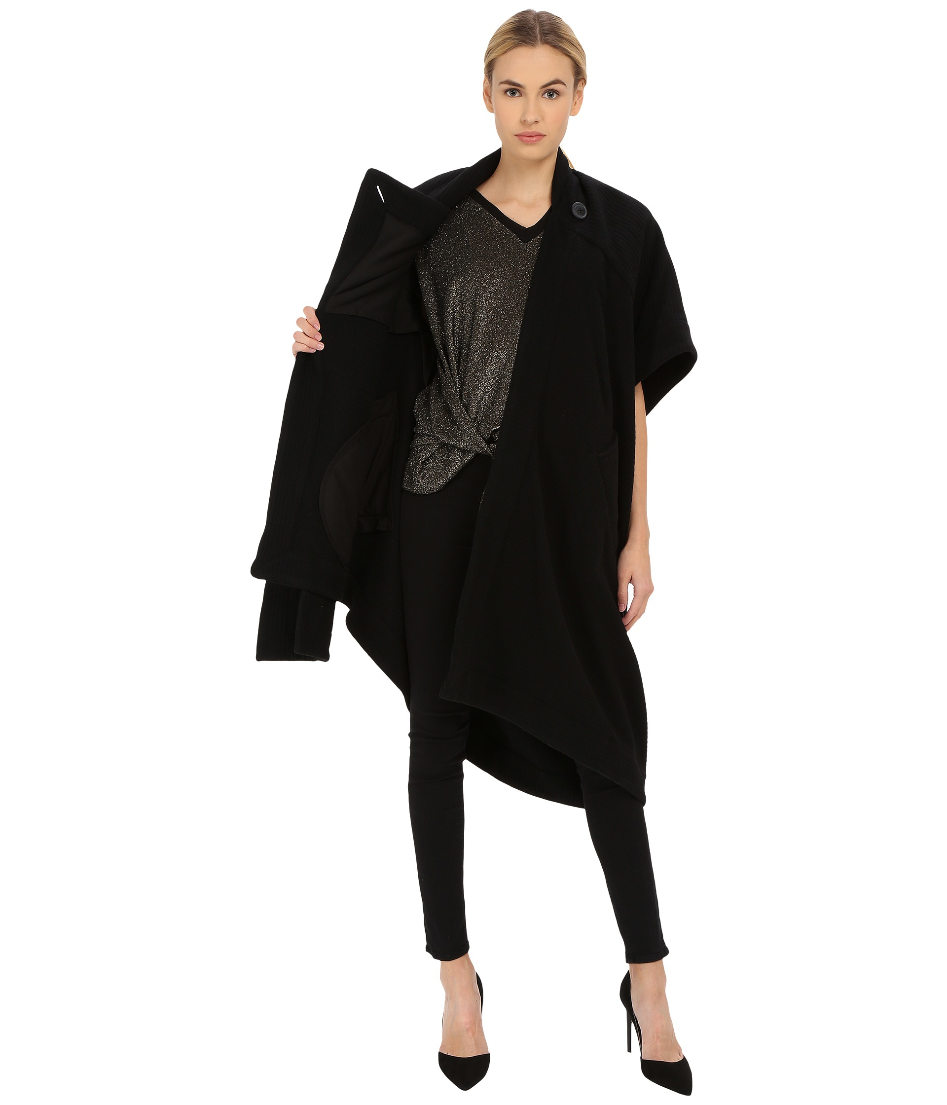 Vivienne westwood Short Sleeve Blanket Coat in Black | Lyst