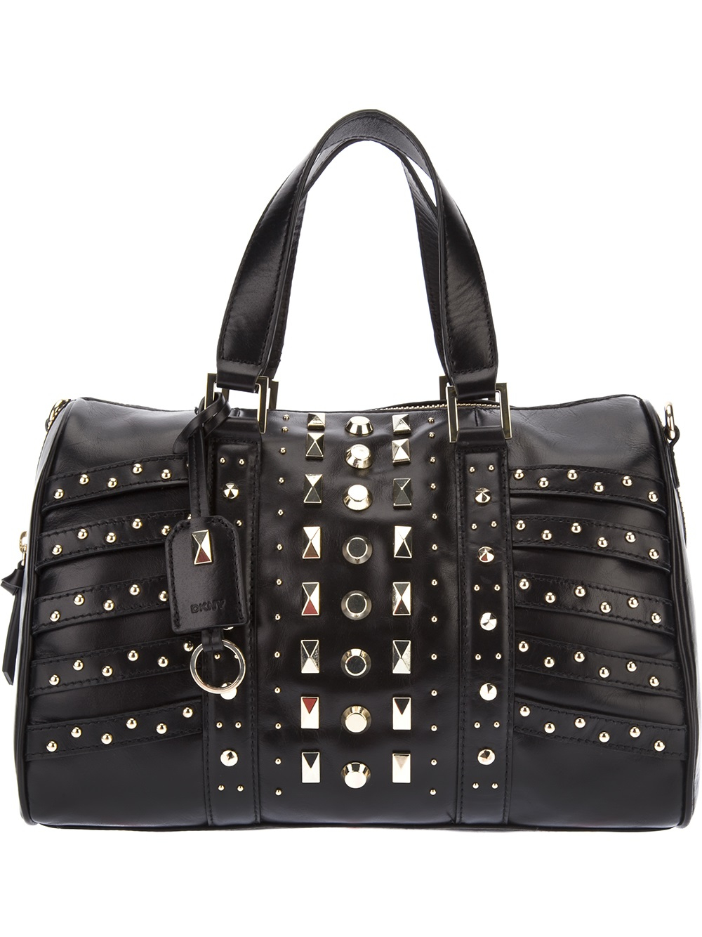 DKNY Studded Tote in Black