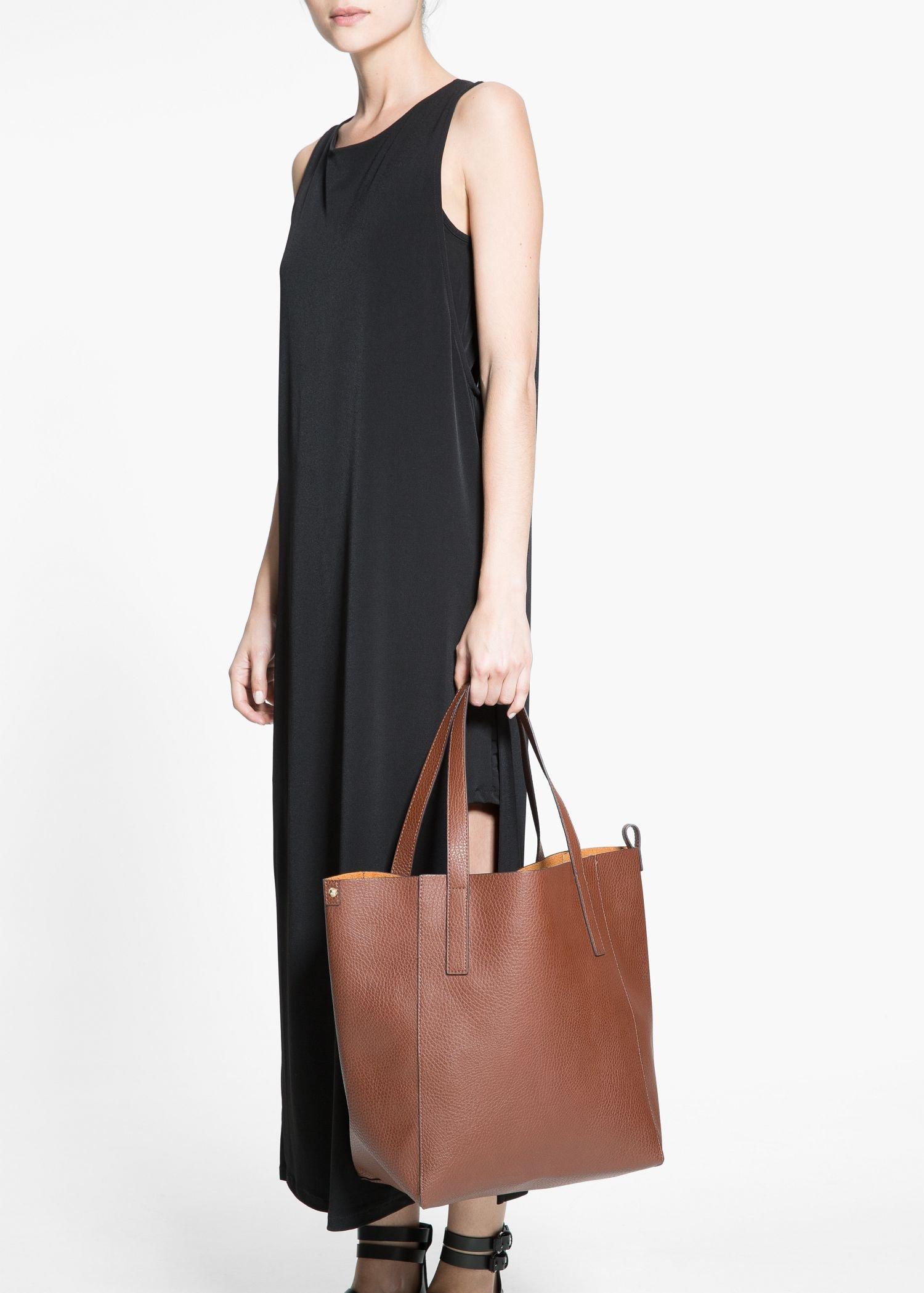 Super Lyst - Mango Faux-Leather Shopper Bag in Brown MZ27