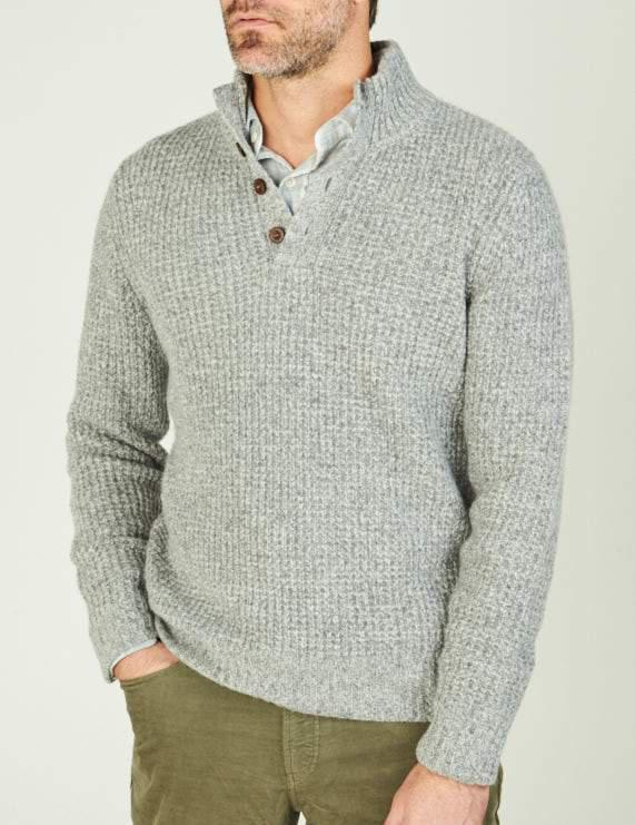 5a9c04605a13 Faherty Brand Cashmere 1 4 Button in Gray for Men - Lyst