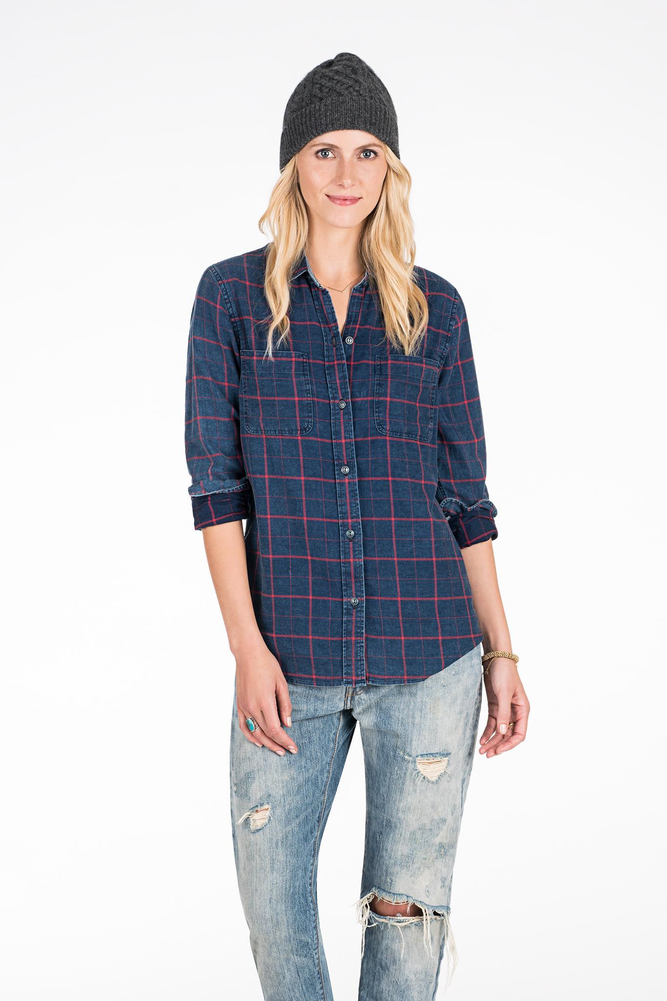 Faherty Brand Malibu Shirt in Blue