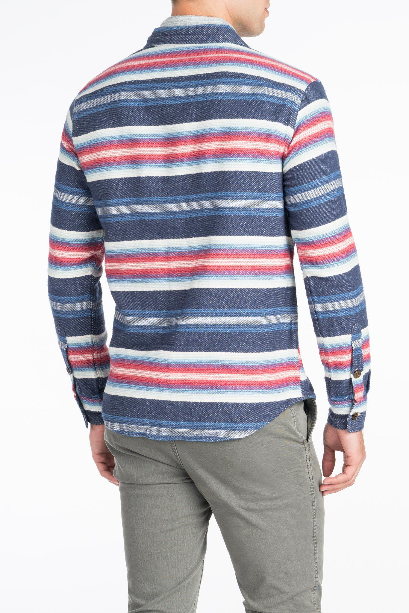 Faherty Brand Cotton Durango Workshirt in Blue for Men