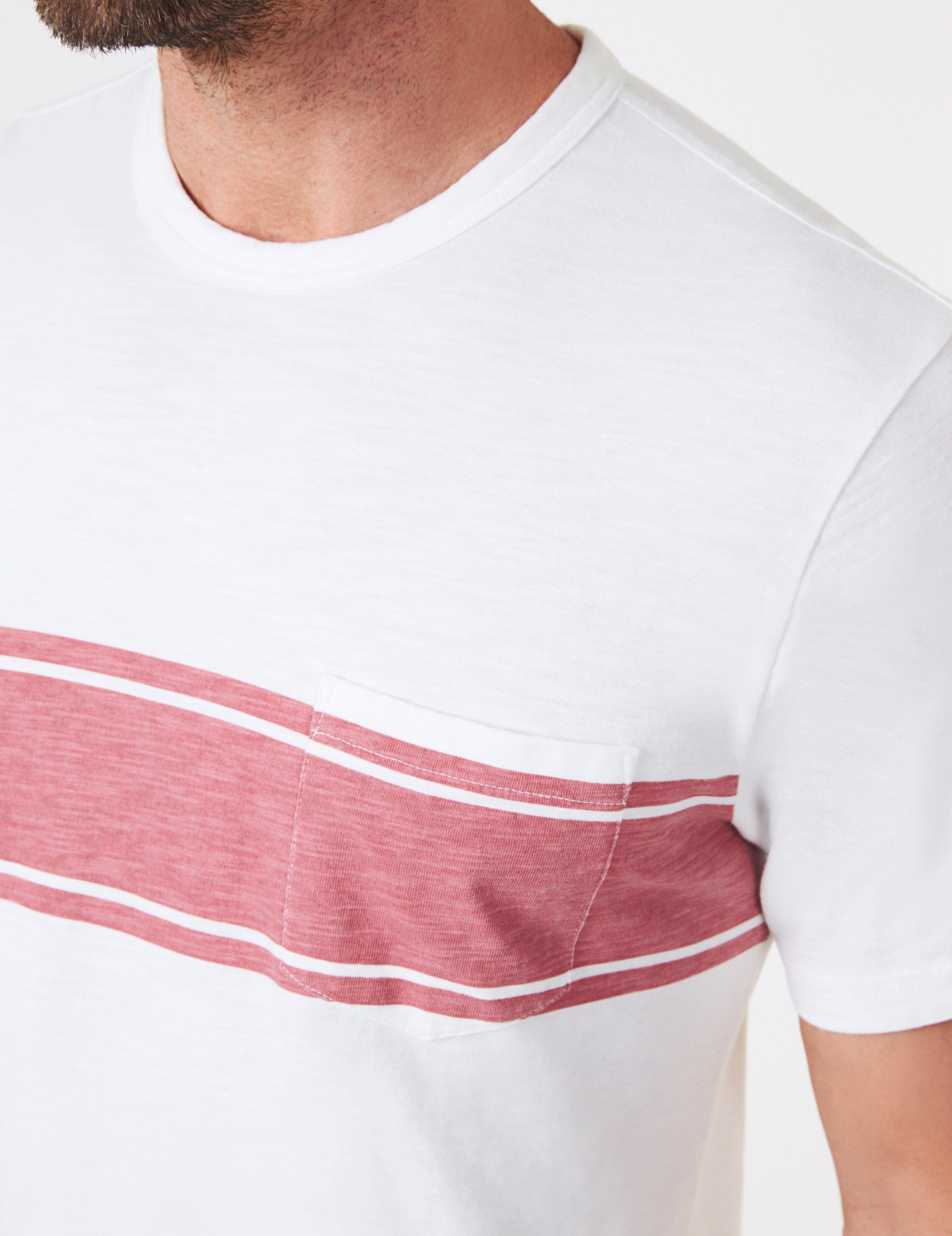23d81d52e2 Lyst - Faherty Brand Surf Stripe Pocket Tee for Men