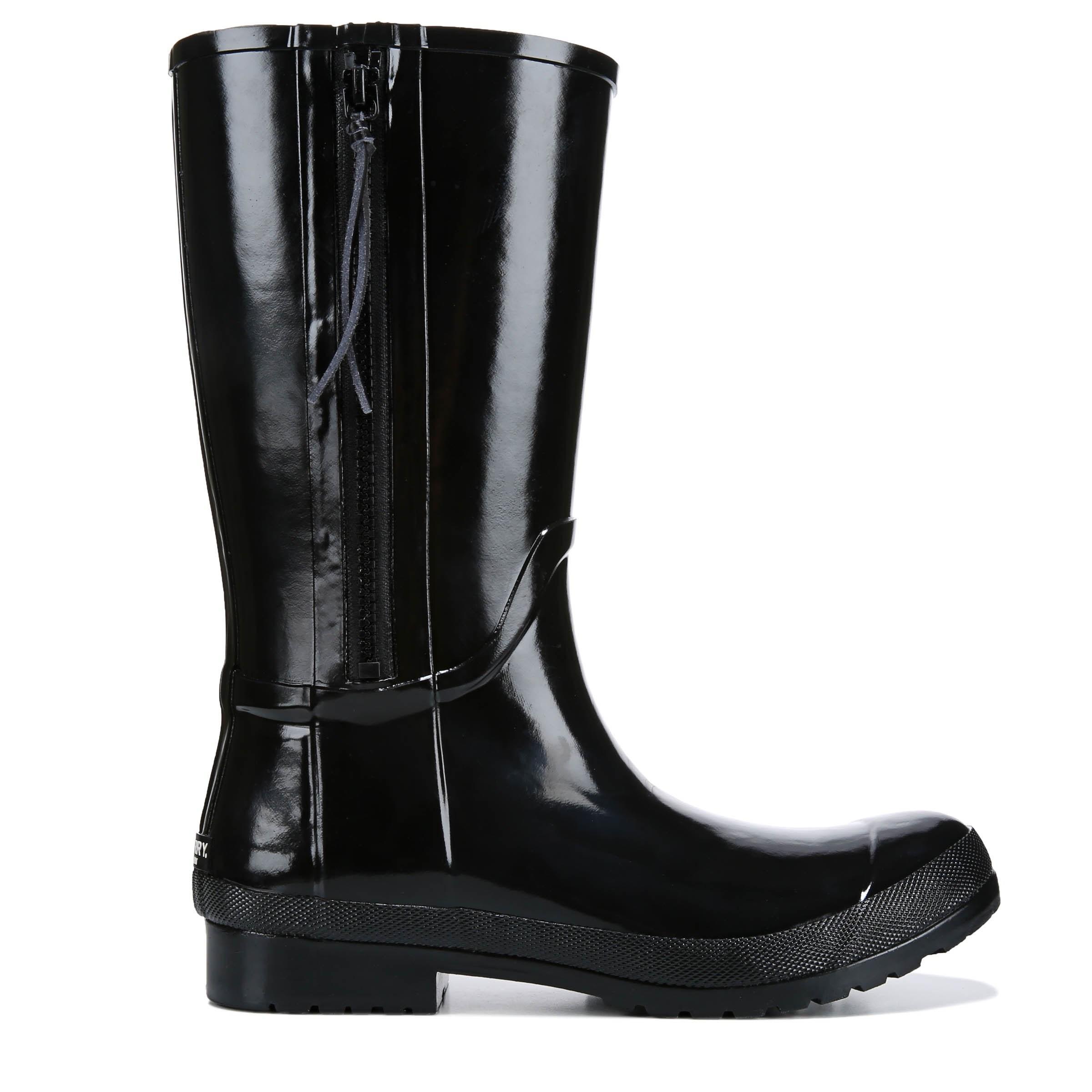 Sperry Top-Sider Fleece Walker Pacific Rain Boots In Black -8665