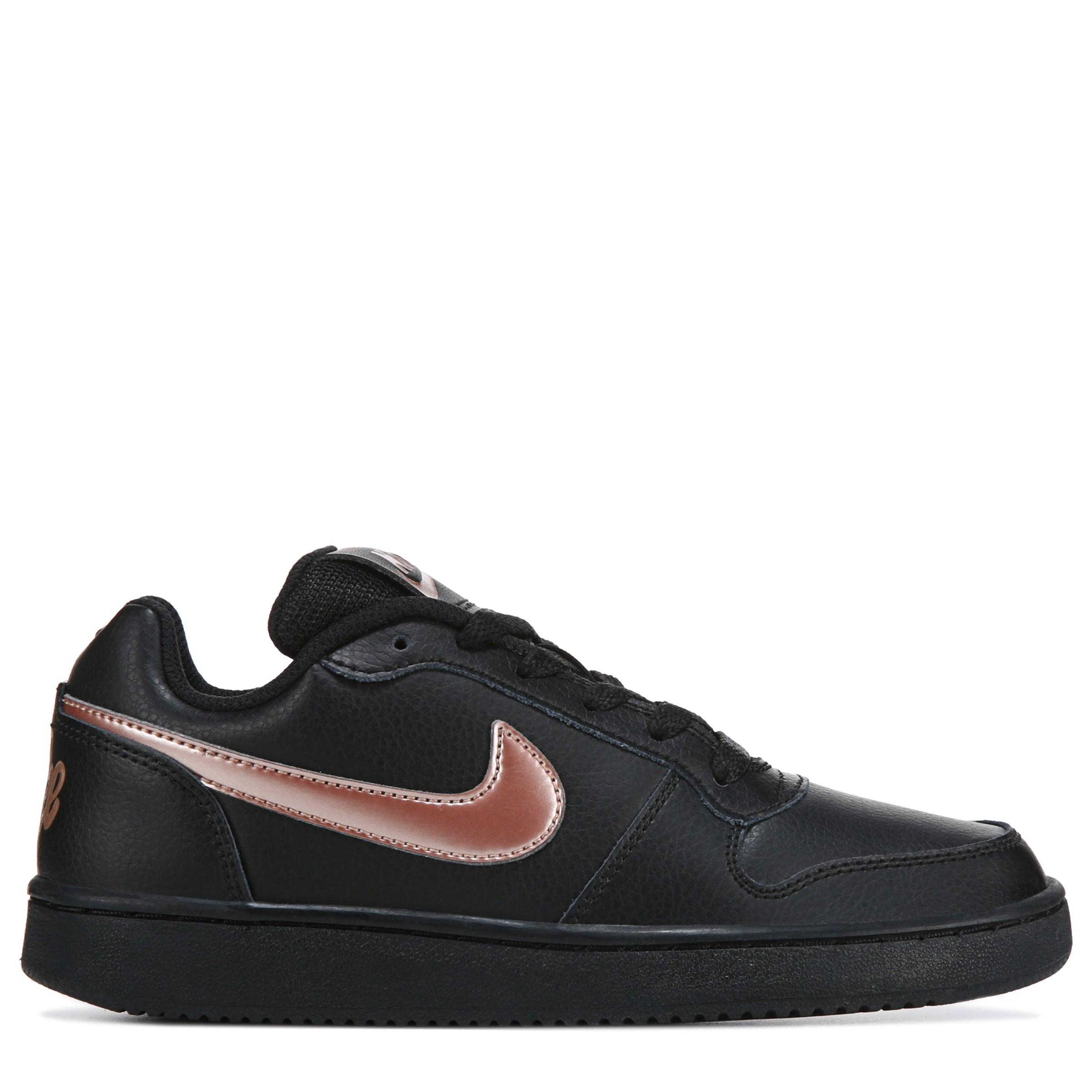 Nike Ebernon Low Athletic Shoe in Black