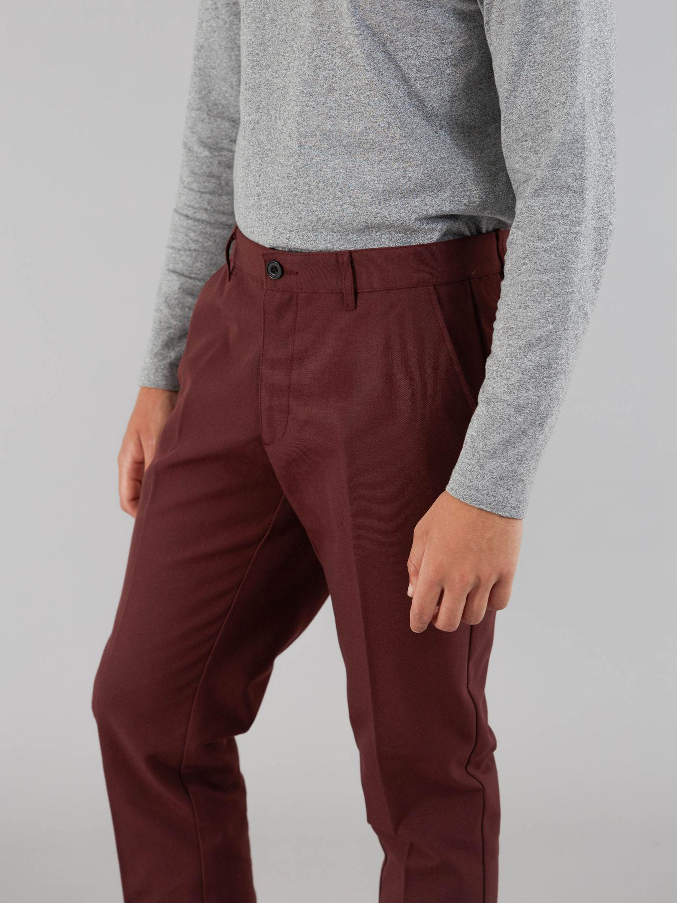 Farah Synthetic The Elm Hopsack Trousers in Red for Men