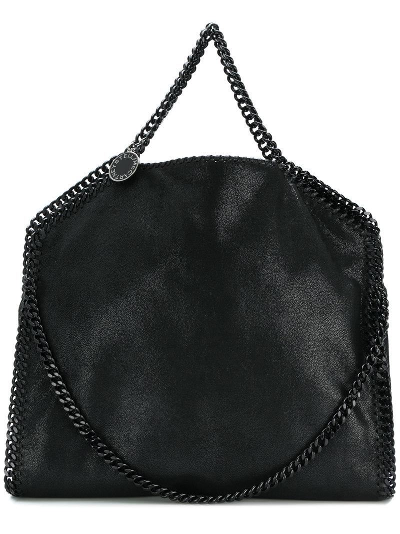 65c51cbd76d8 Lyst - Stella Mccartney Falabella Tote in Black - Save ...