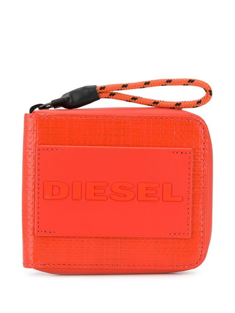 2fc034689 Cartera Zippy Hiresh DIESEL de hombre de color Naranja - Lyst
