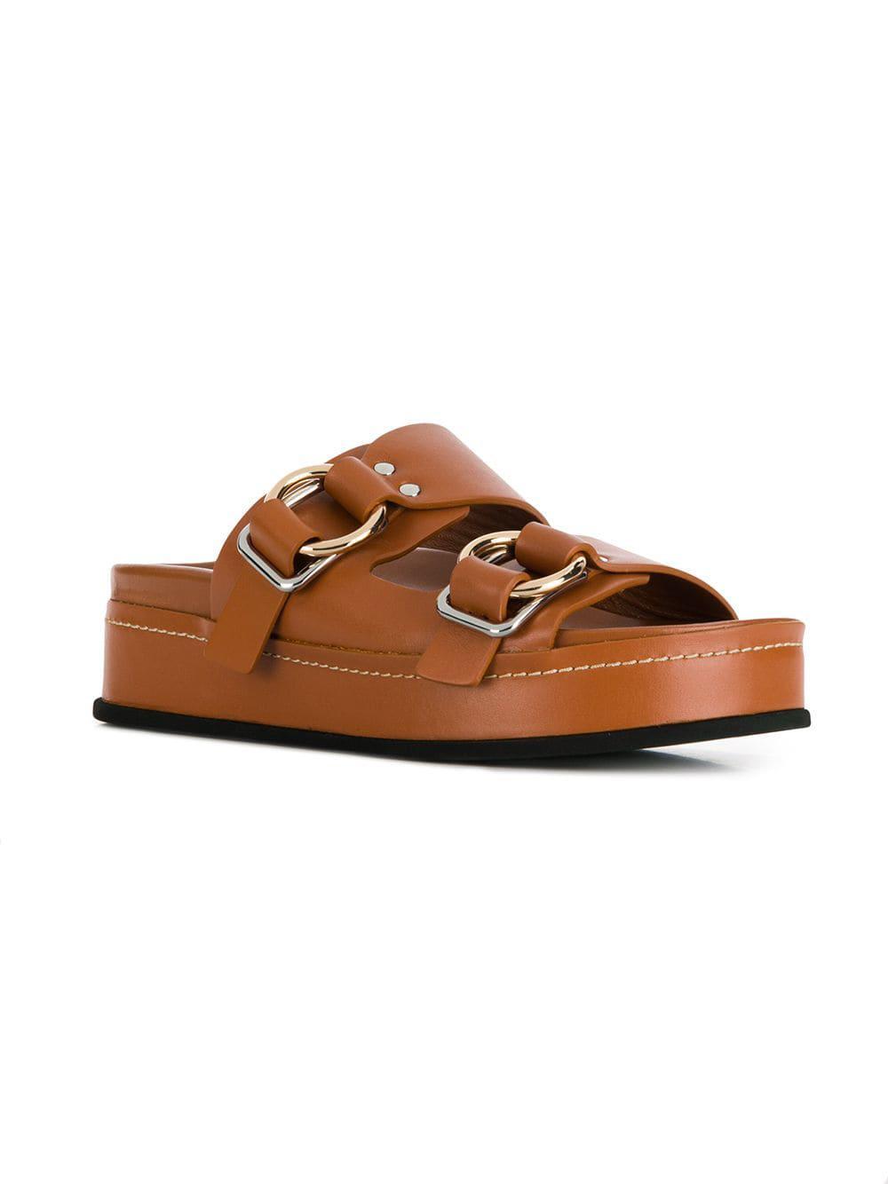 777ed784ddc2 Lyst - 3.1 Phillip Lim Freida Platform Sandals in Brown