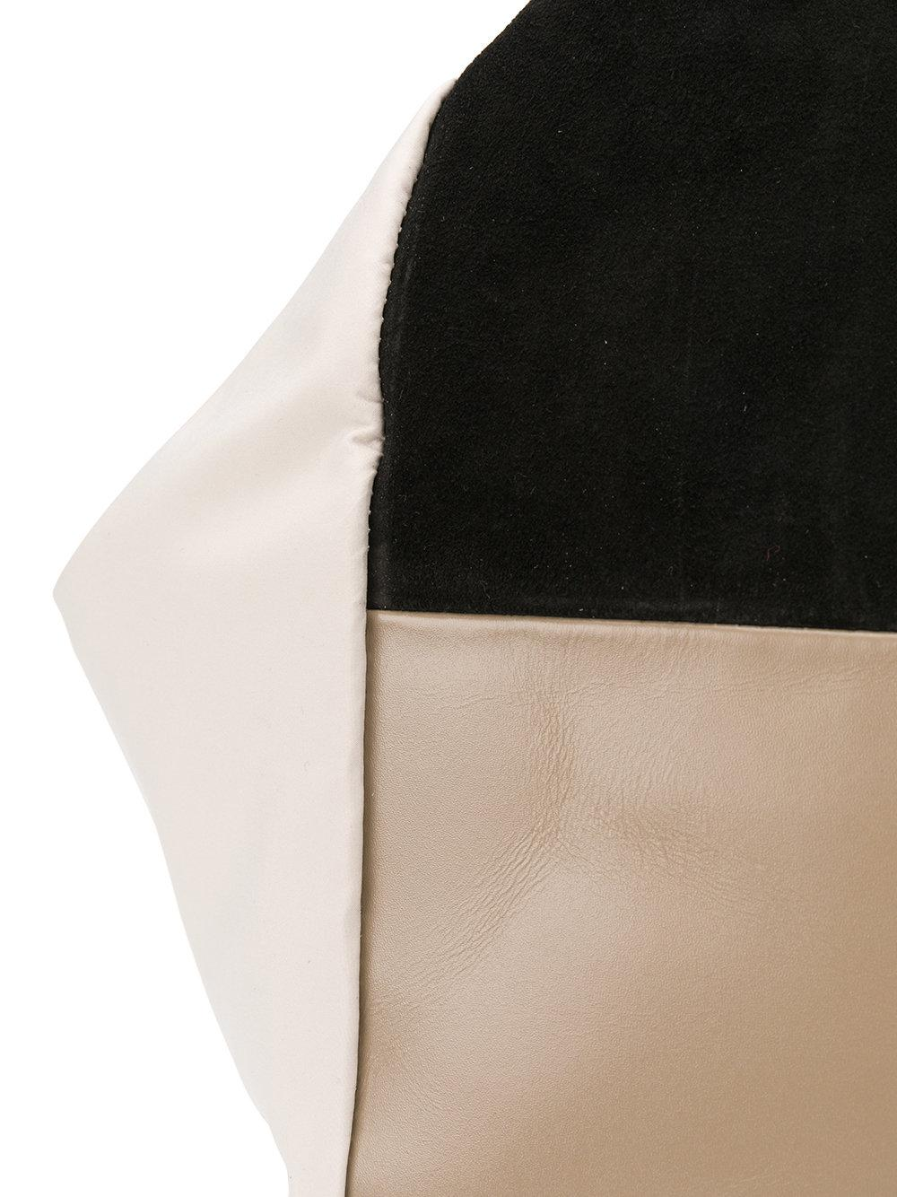 Carmina Campus Leather Colour-block Patch Tote