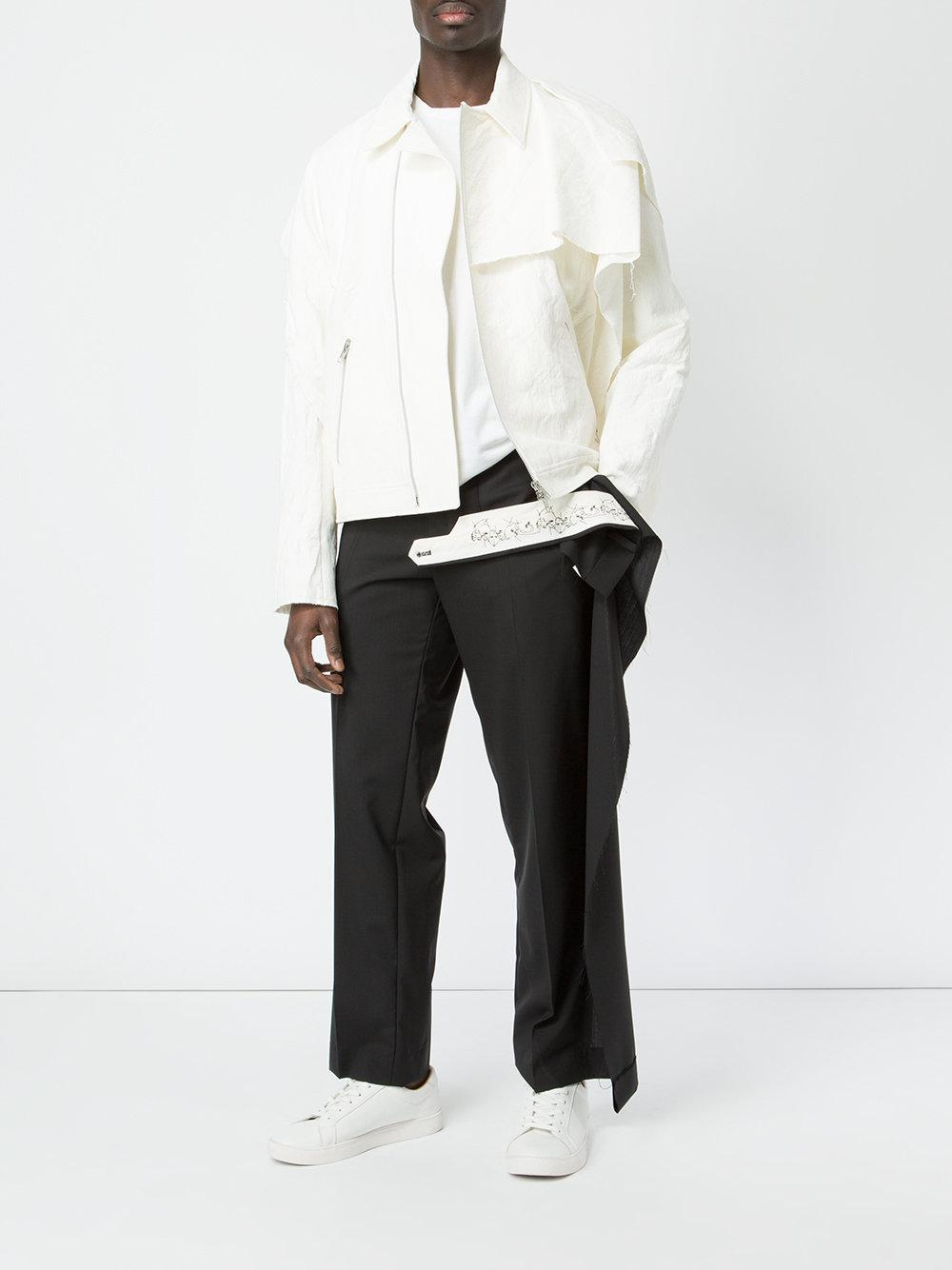 Moohong Wool Deconstructed Trousers in Black for Men