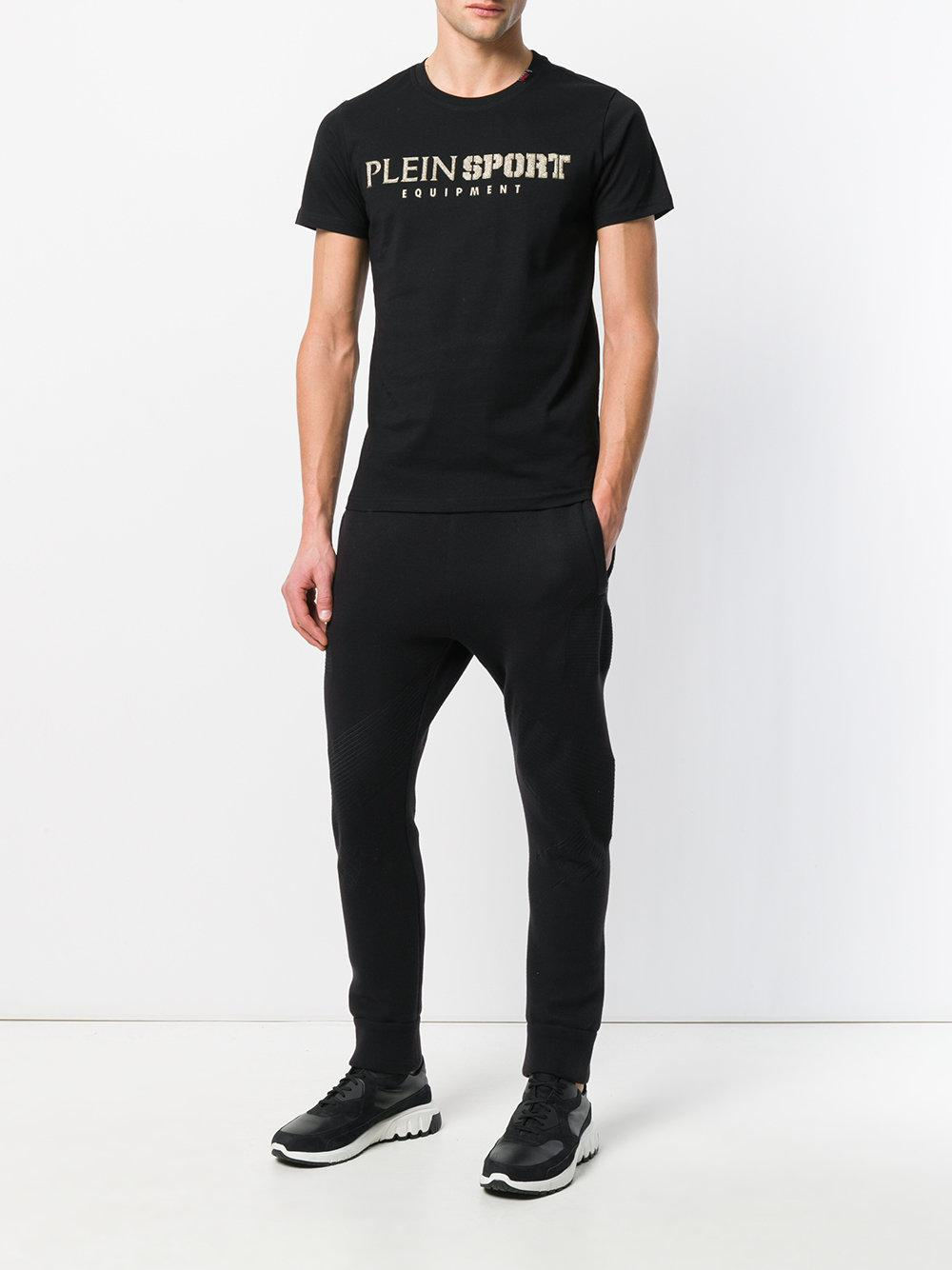 lyst philipp plein logo print t shirt in black for men. Black Bedroom Furniture Sets. Home Design Ideas