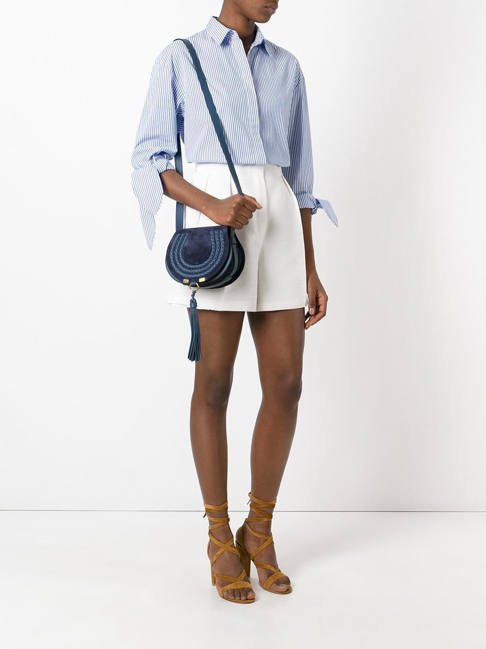 chlo mini marcie tassel bag in blue lyst. Black Bedroom Furniture Sets. Home Design Ideas
