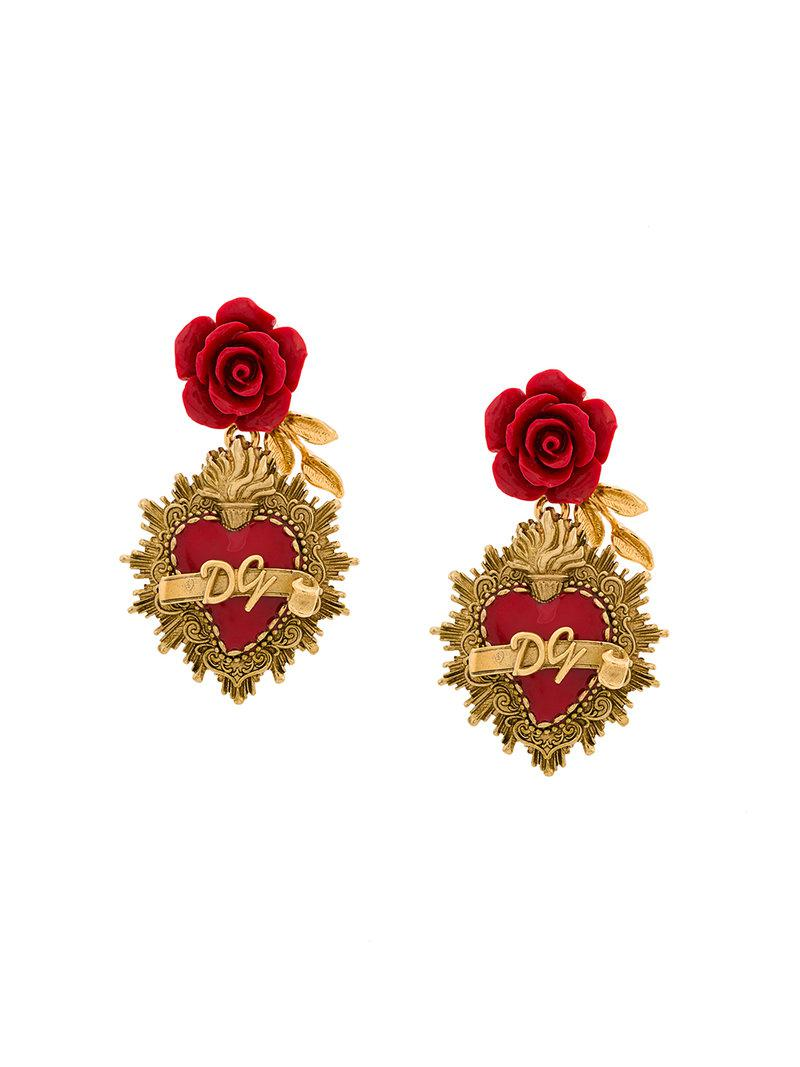 Dolce & Gabbana Sacred Heart earrings - Metallic cuURMNvwk