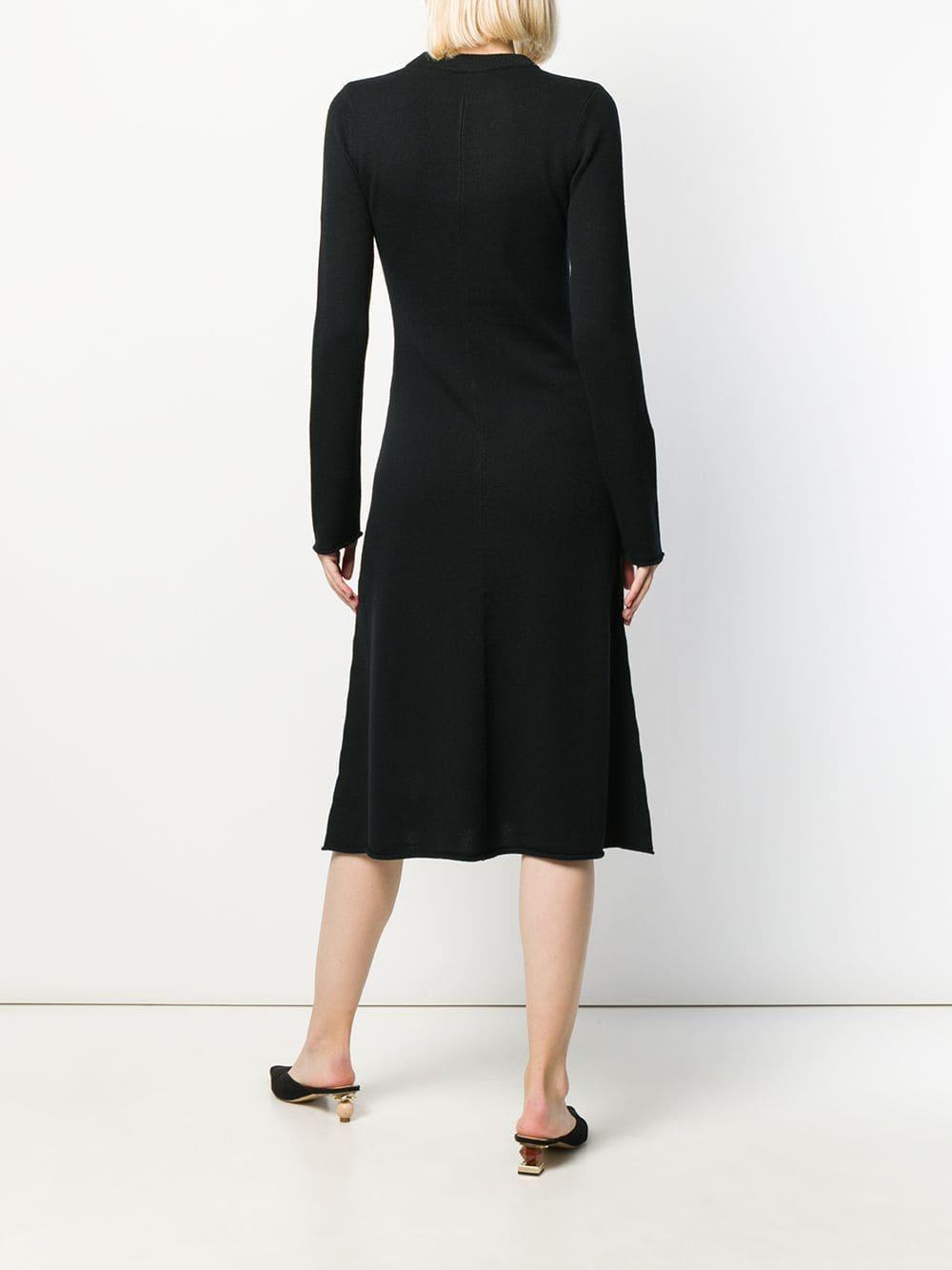 Robe mi-longue en maille JOSEPH en coloris Noir