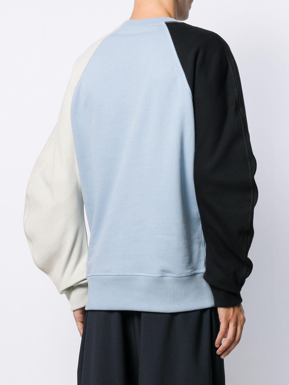 JW Anderson Katoen Sweater Met Colourblocking in het Blauw voor heren