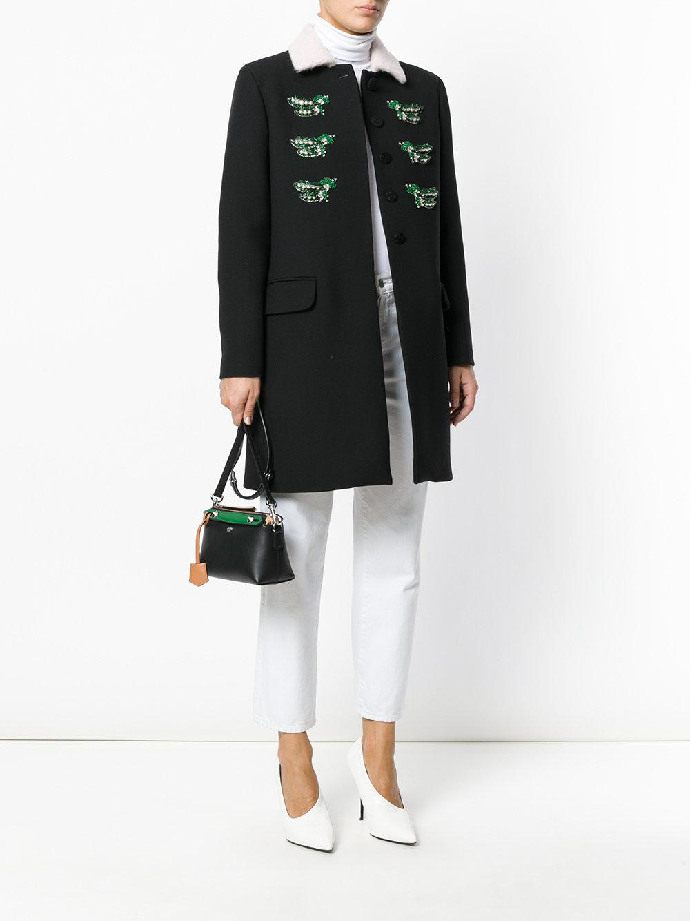 Fendi Leather By The Way Tote in Black