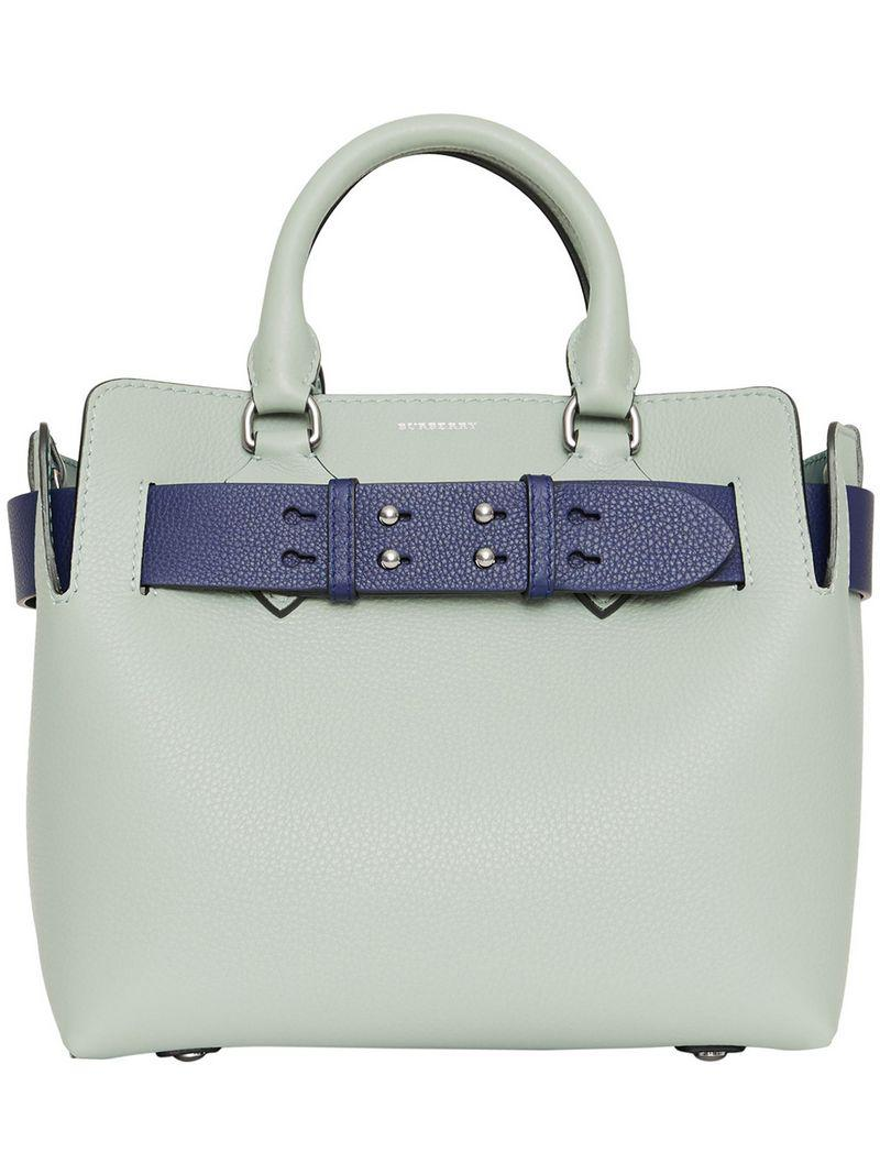 784007b90e35 Lyst - Burberry The Small Leather Belt Bag in Gray
