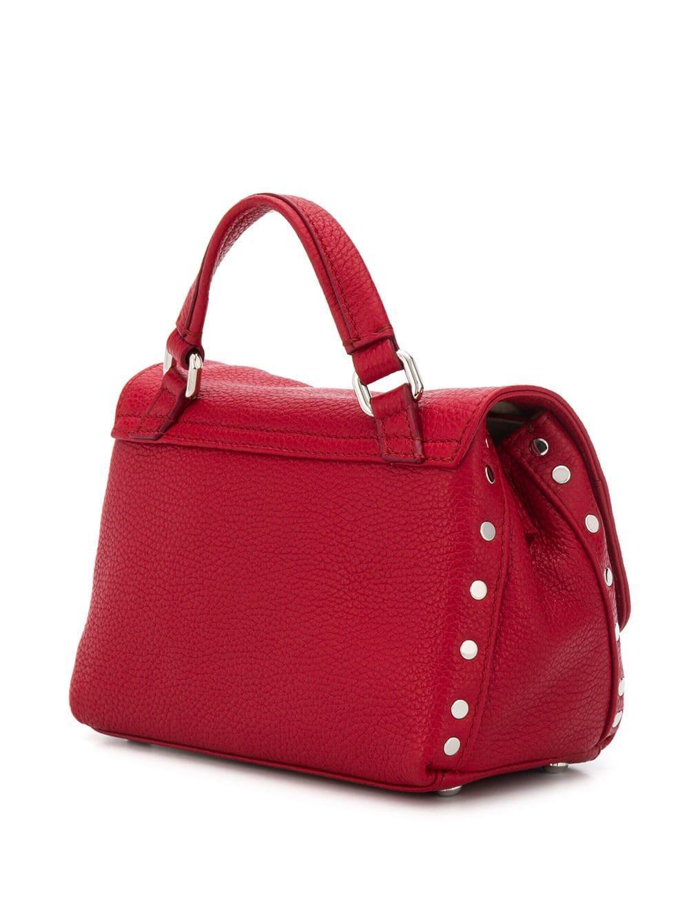 Zanellato Leder Mini 'Postina' Handtasche in Rot FT5yh