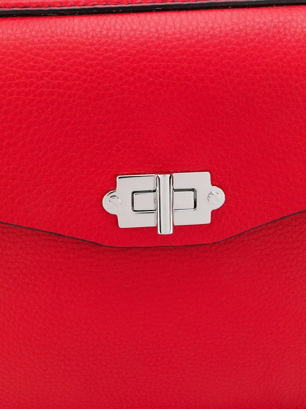 Proenza Schouler Leather Small Hava Top Handle Tote in Red