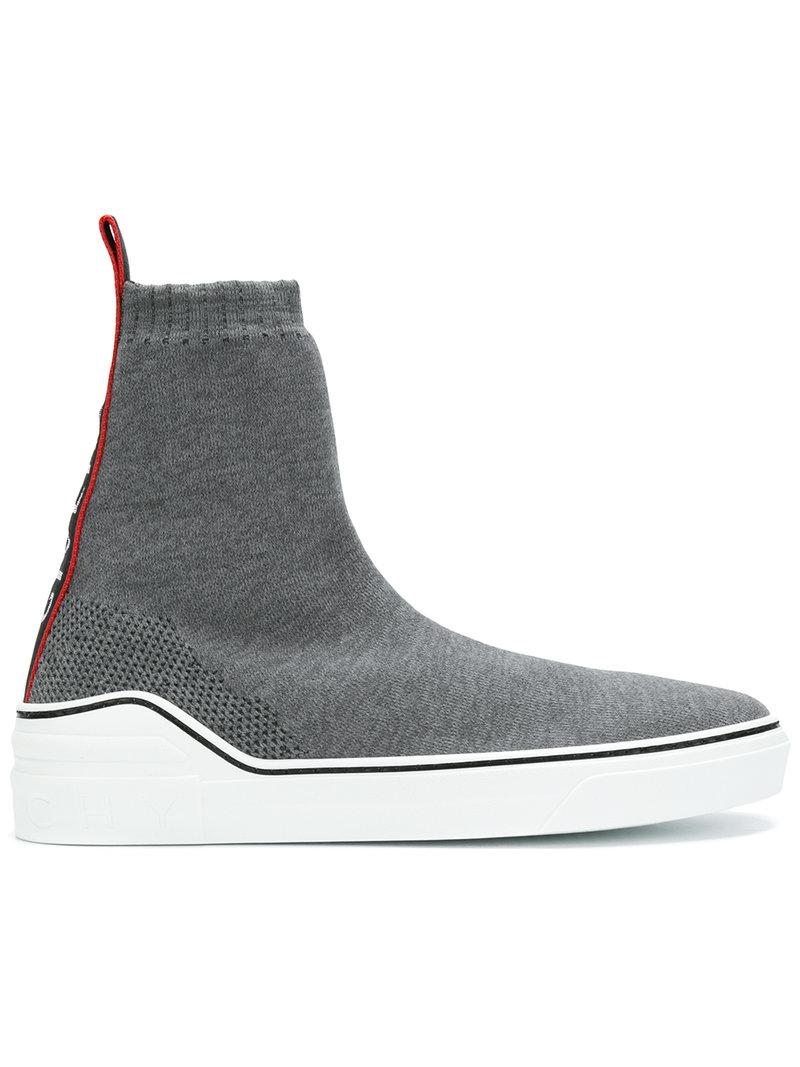 Givenchy Baskets Style Chaussette - Gris wOGaoN