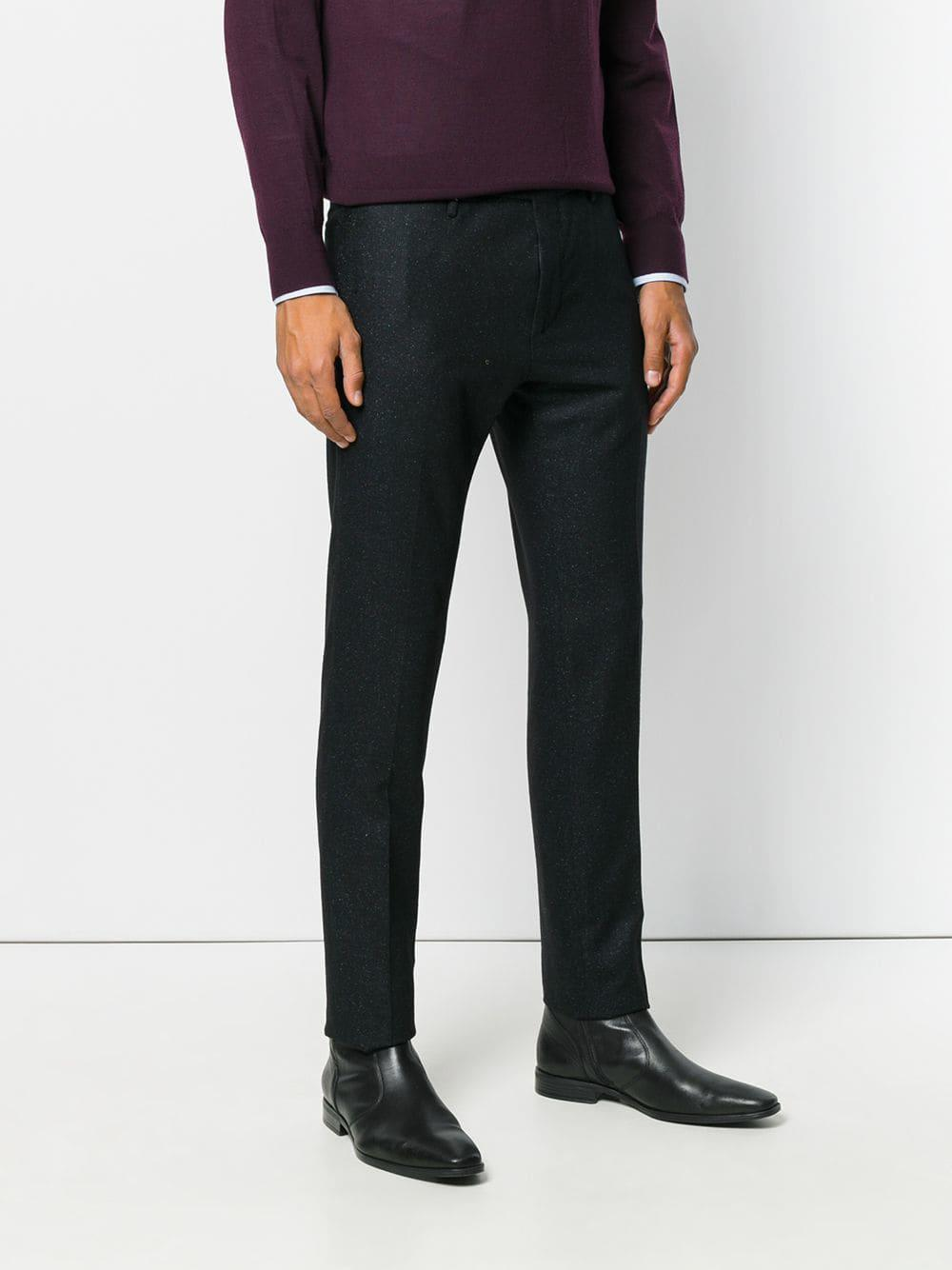 PT01 Wol Straight-leg Knitted Trousers in het Blauw voor heren