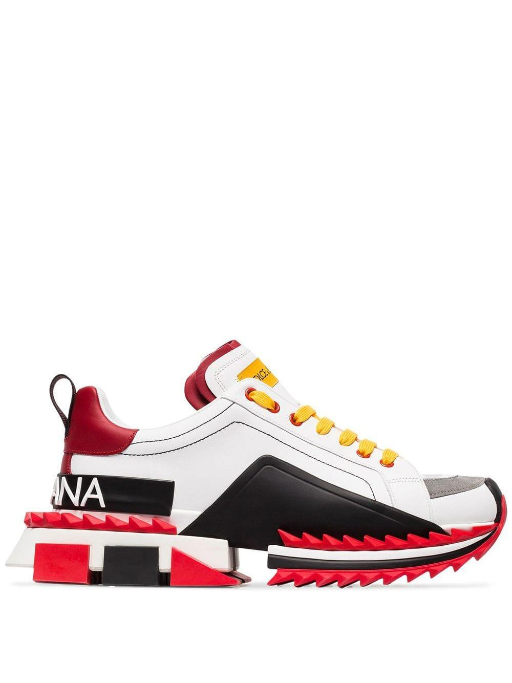 Zapatillas bajas Super King Dolce & Gabbana de hombre de color Blanco