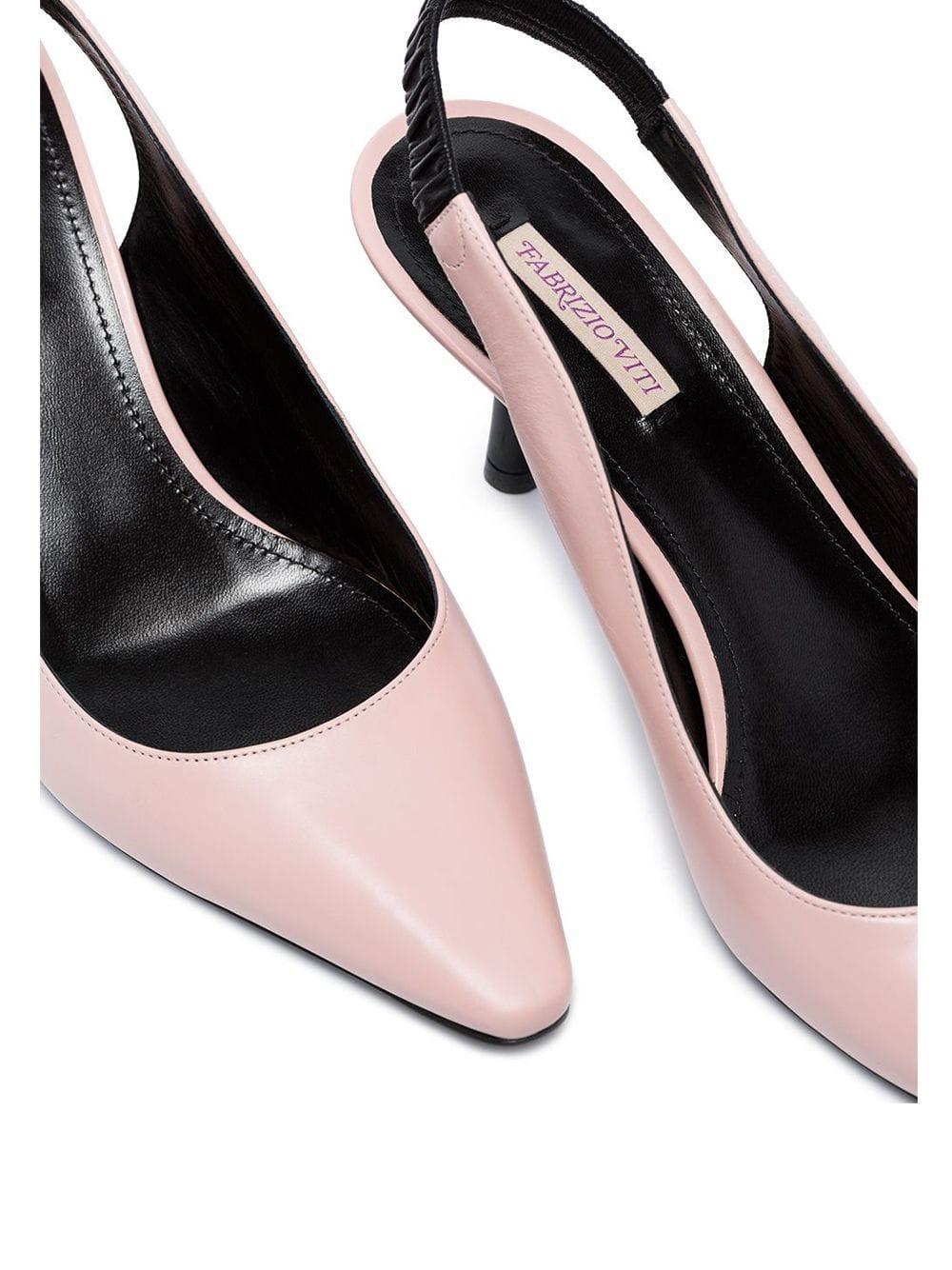 Zapatos de tacón Harper 65 con tira trasera Fabrizio Viti de Cuero de color Rosa
