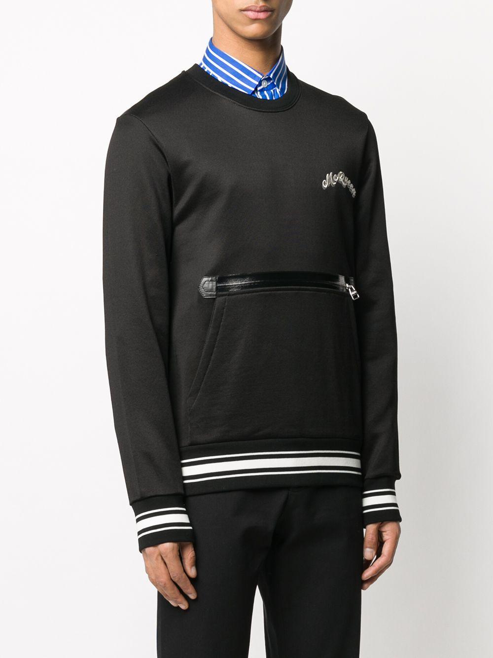 Alexander McQueen Katoen Sweater Met Ritszak in het Zwart voor heren