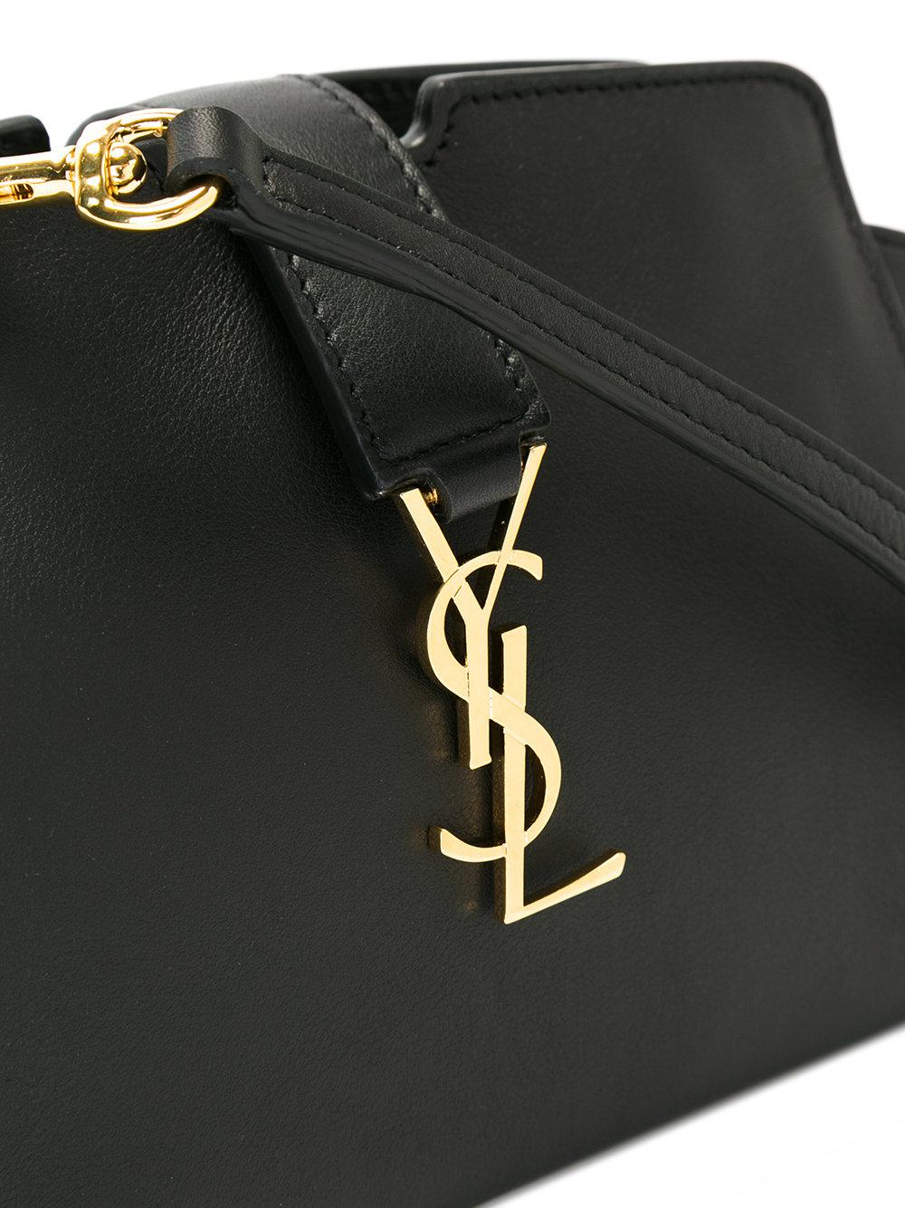 Lyst Saint Laurent Toy Ysl Cabas Crossbody Bag In Black