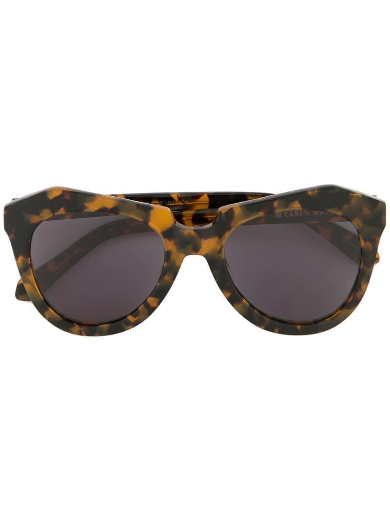 6fbecaa1d8d8 Karen Walker Number One Sunglasses in Brown - Lyst