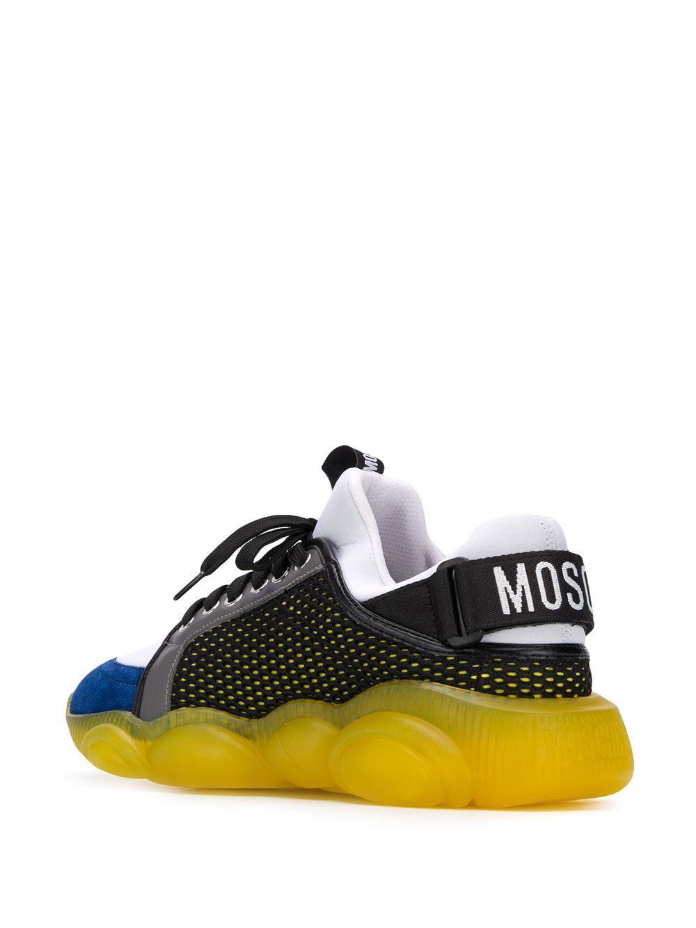 Zapatillas bajas Teddy Moschino de Ante de color Negro para hombre