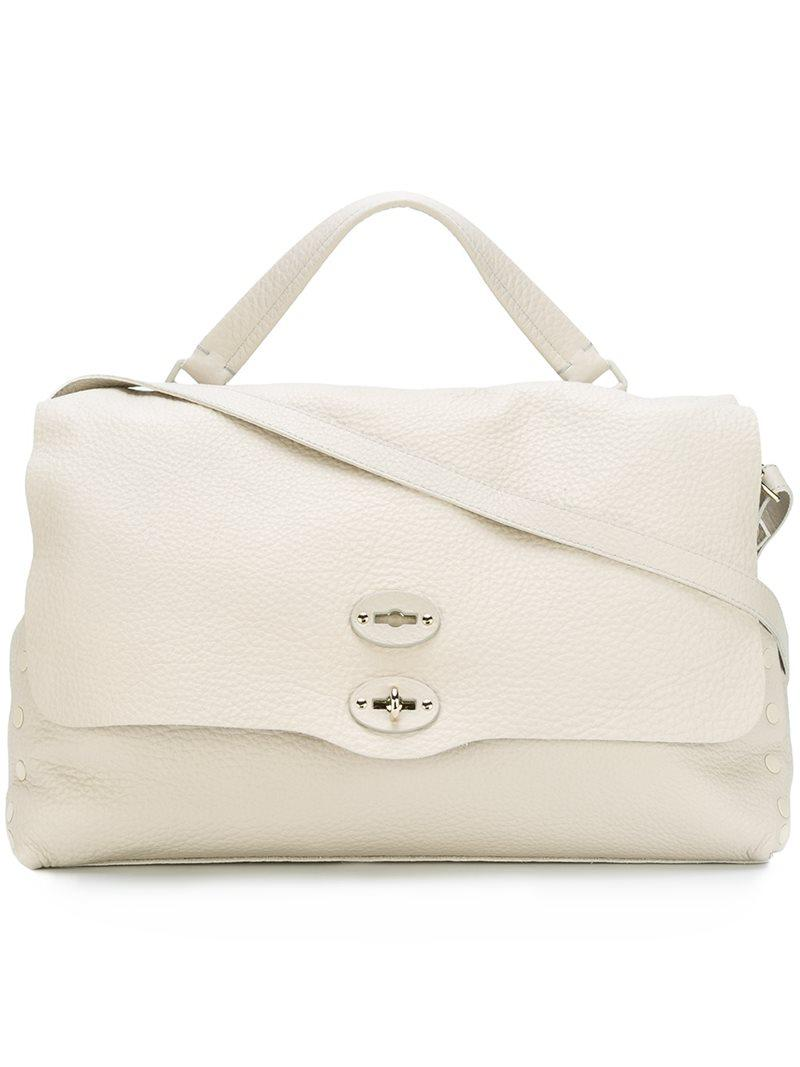 large tote bag - White Zanellato Cheap Sale Latest Comfortable Cheap Price Top Quality Cheap Online Outlet 2018 CfLVt