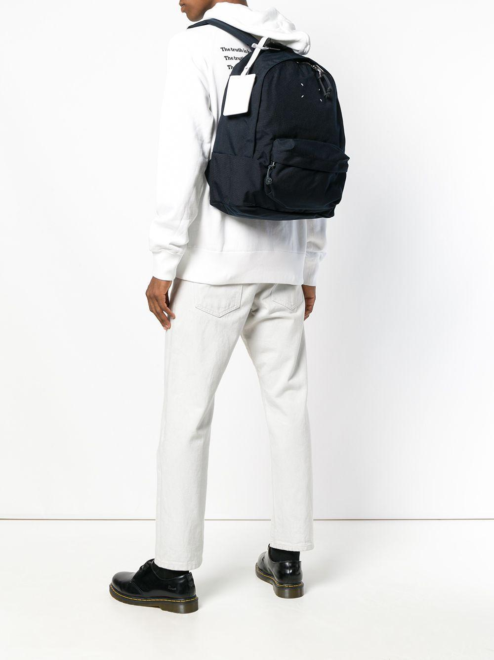 Maison Margiela Synthetic Signature Stitch Backpack in Blue for Men