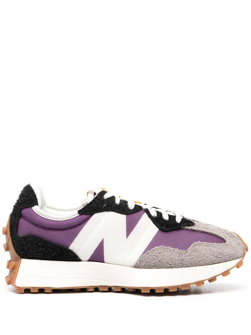 New Balance Synthetic 327 Nylon And Mesh Retro Sneakers in Purple ...