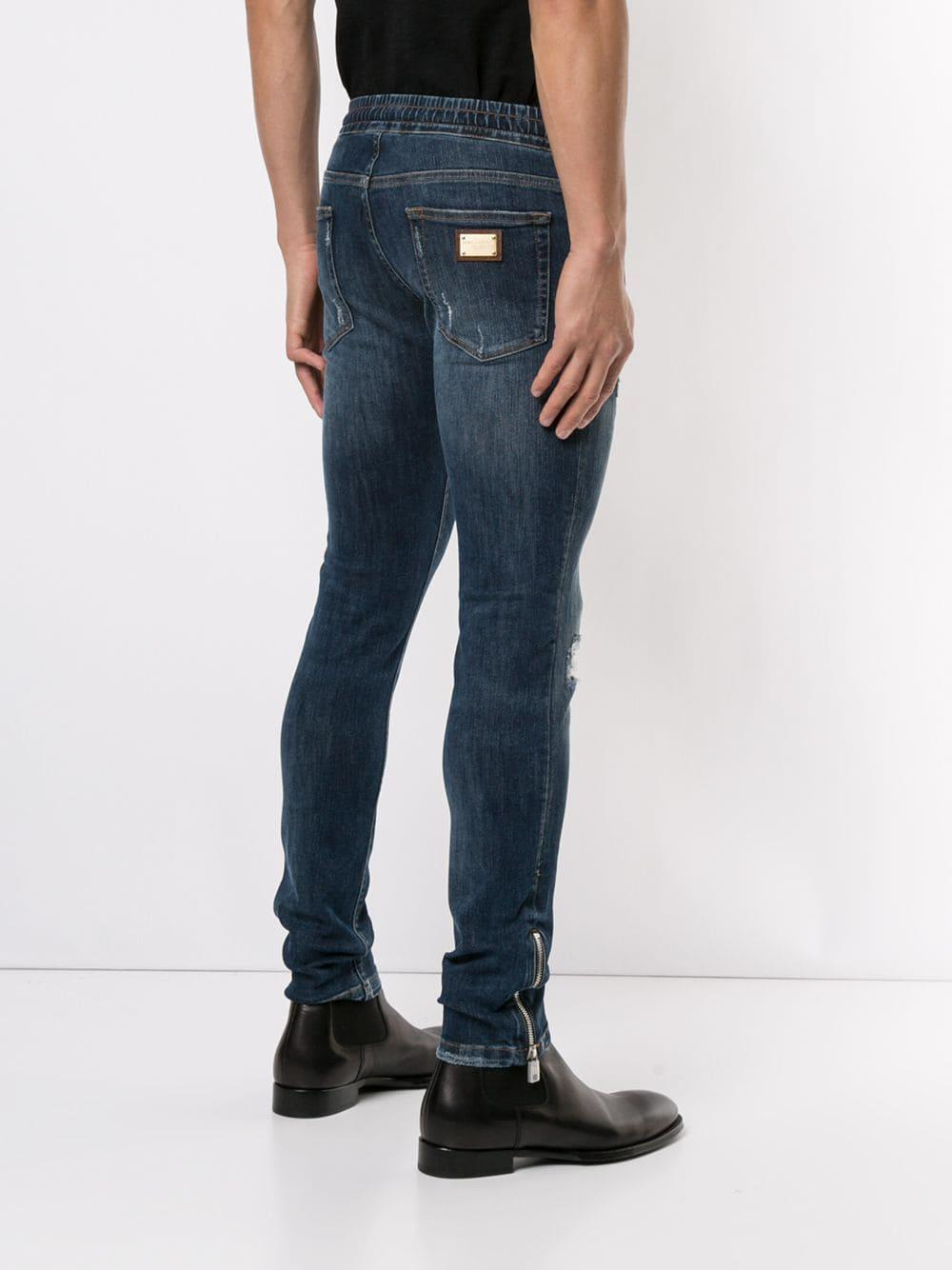 Dolce & Gabbana Denim Skinny Jeans in het Blauw voor heren