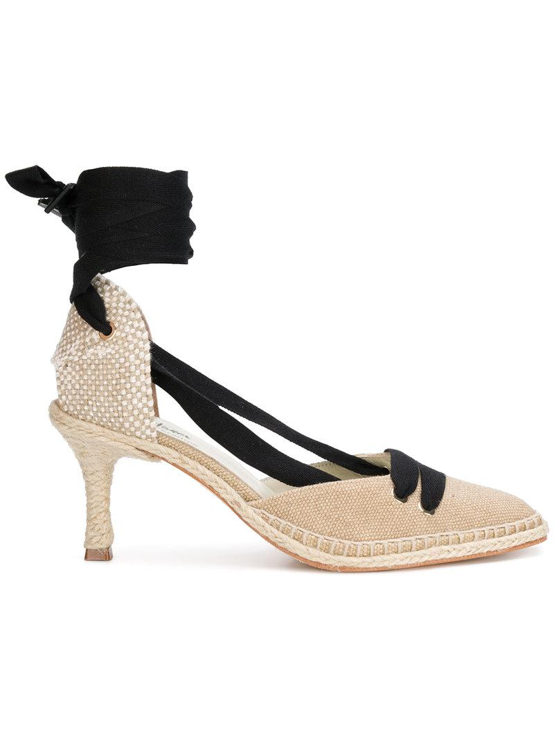 high-heel espadrille pumps - Nude & Neutrals Castaner Free Shipping Good Selling With Paypal Release Dates Online Discount 100% Guaranteed fYexZKM