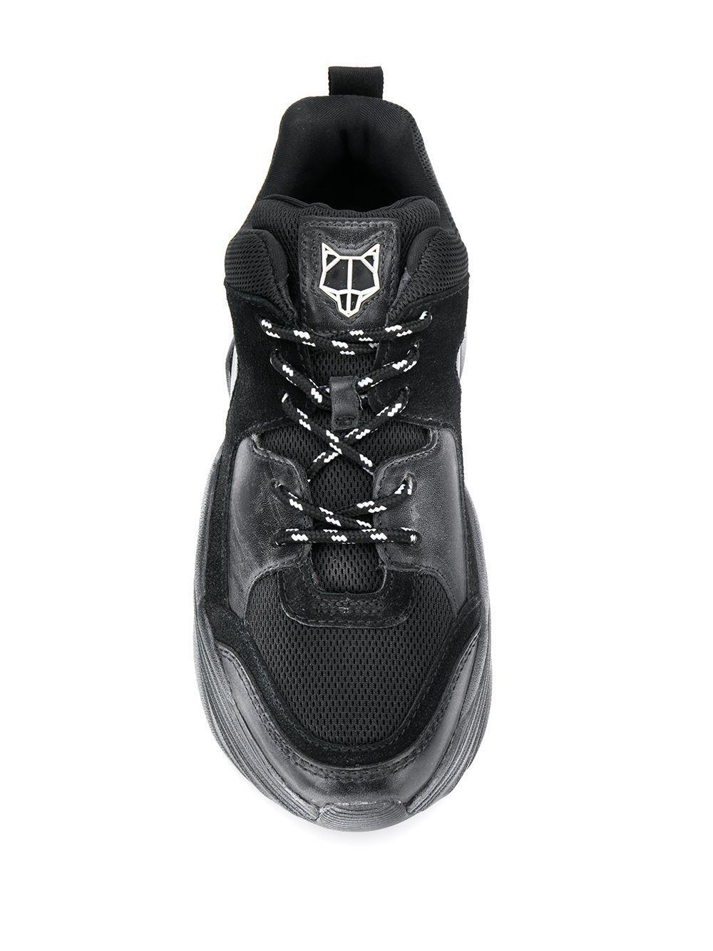 Zapatillas bajas Track Naked Wolfe de Ante de color Negro
