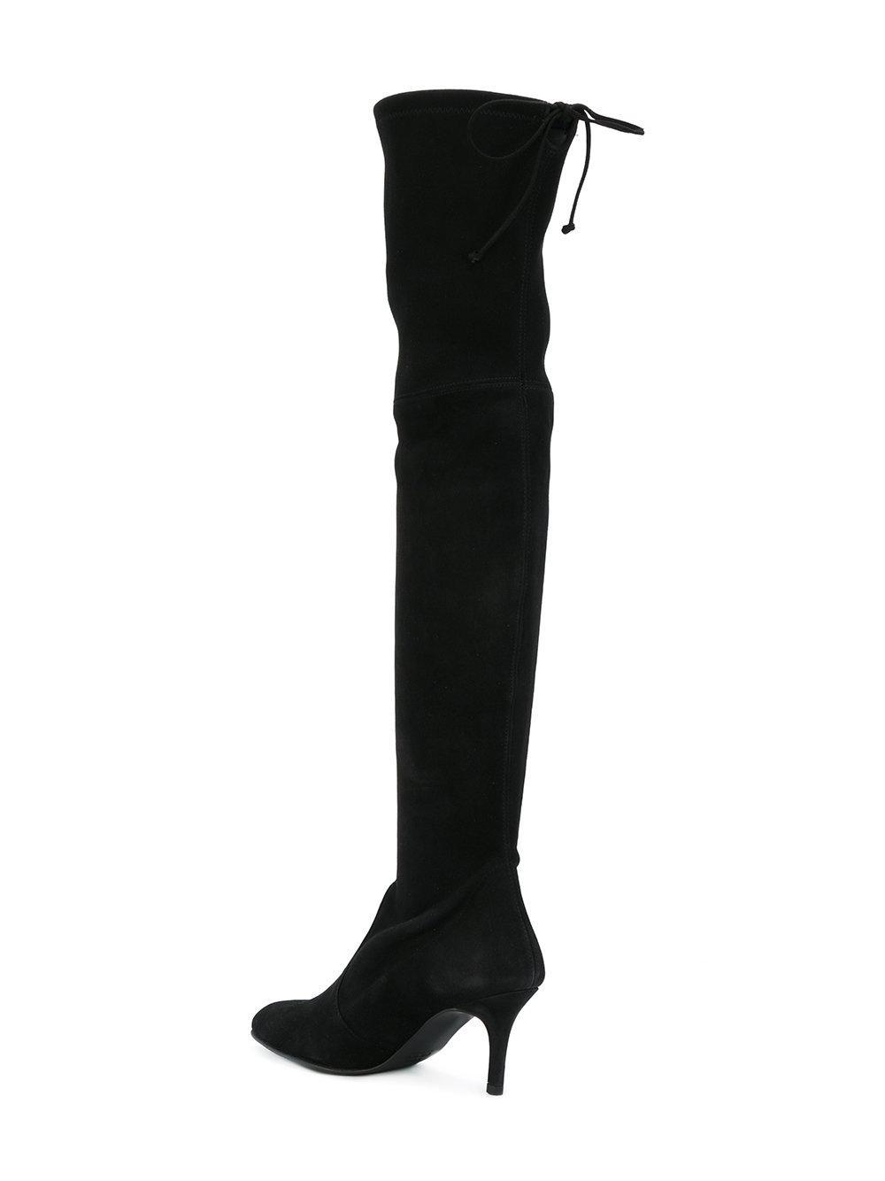 Stuart Weitzman Eloise knee length boots - Black farfetch neri Camoscio Barato 2018 Nueva Precio De Fábrica Venta De Descuento En Línea Sneakernews En Venta Je1k2Mw