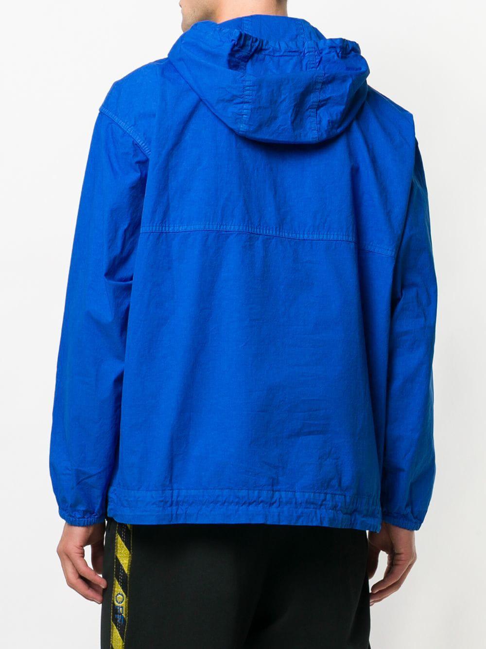 6089ed7b6 Lyst - Off-White c o Virgil Abloh Press Stud Hoodie in Blue for Men