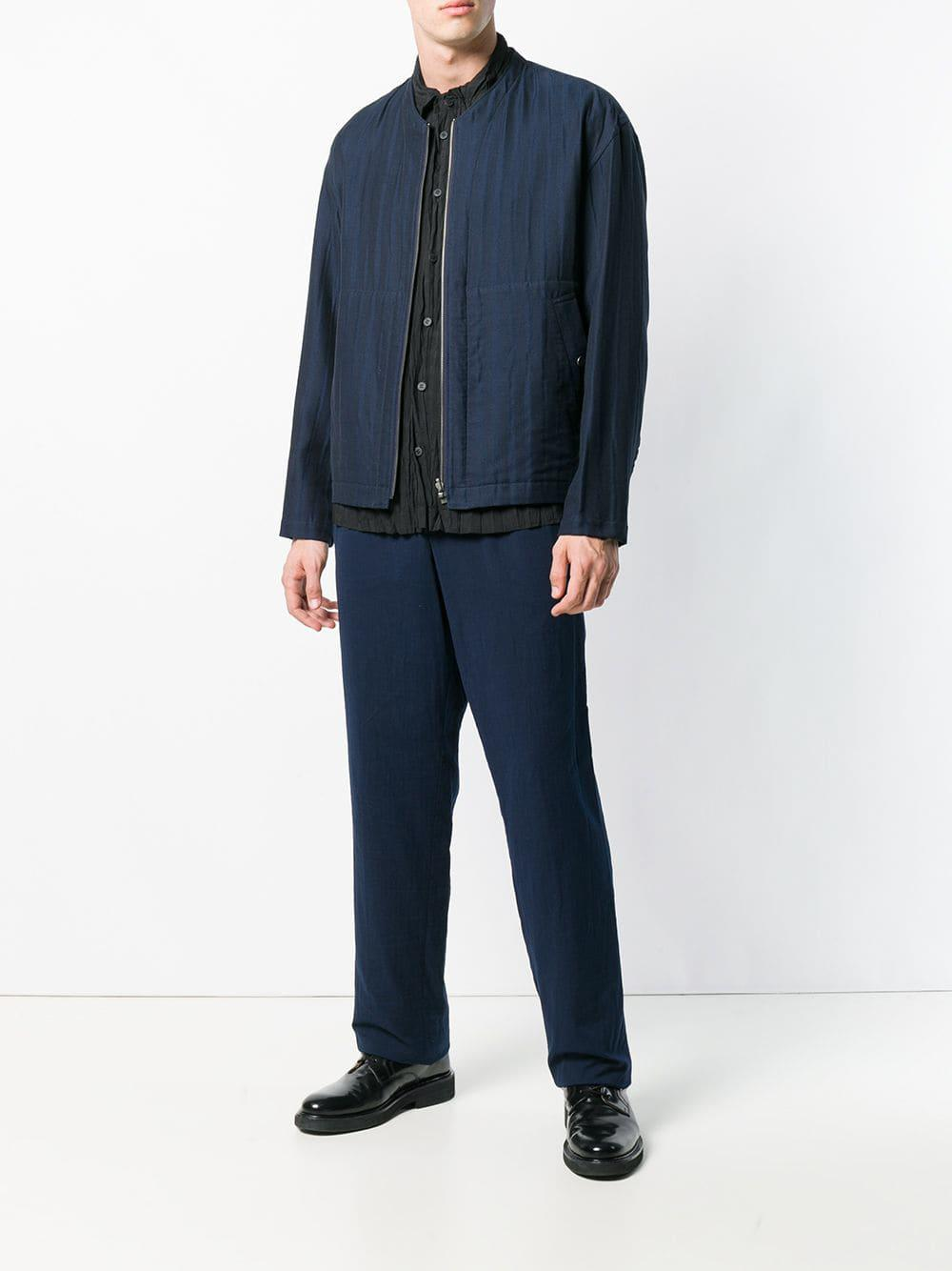 Issey Miyake Cotton Reversible Jacket in Blue for Men