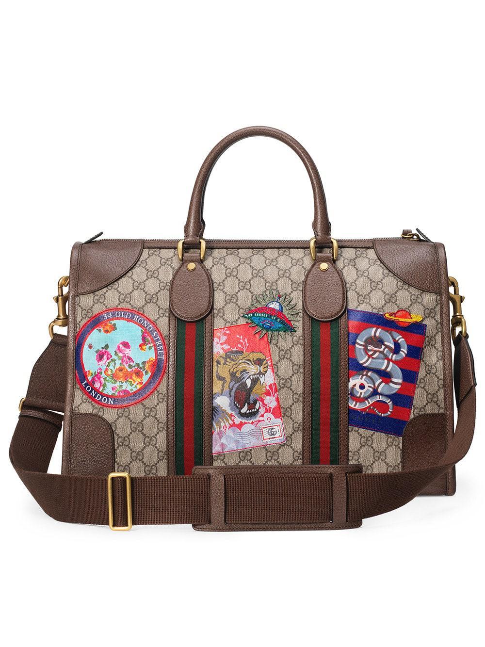 Gucci - Multicolor Leather Courrier GG Supreme Duffle Bag for Men - Lyst.  View fullscreen 7b364d5928f7e