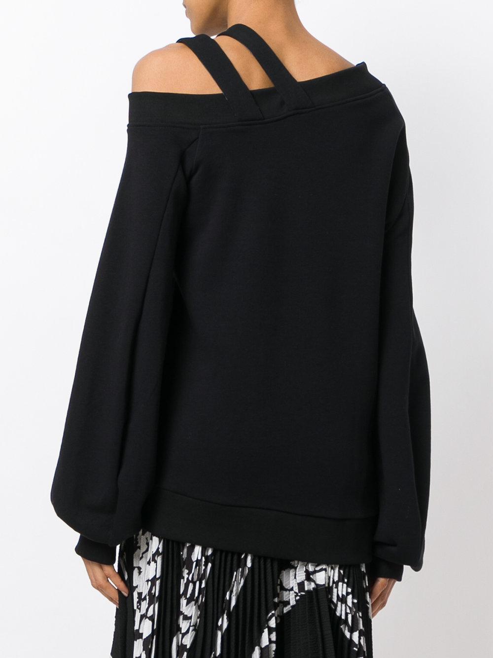 Asymmetric knit jumper Coton Ioana Ciolacu en coloris Noir