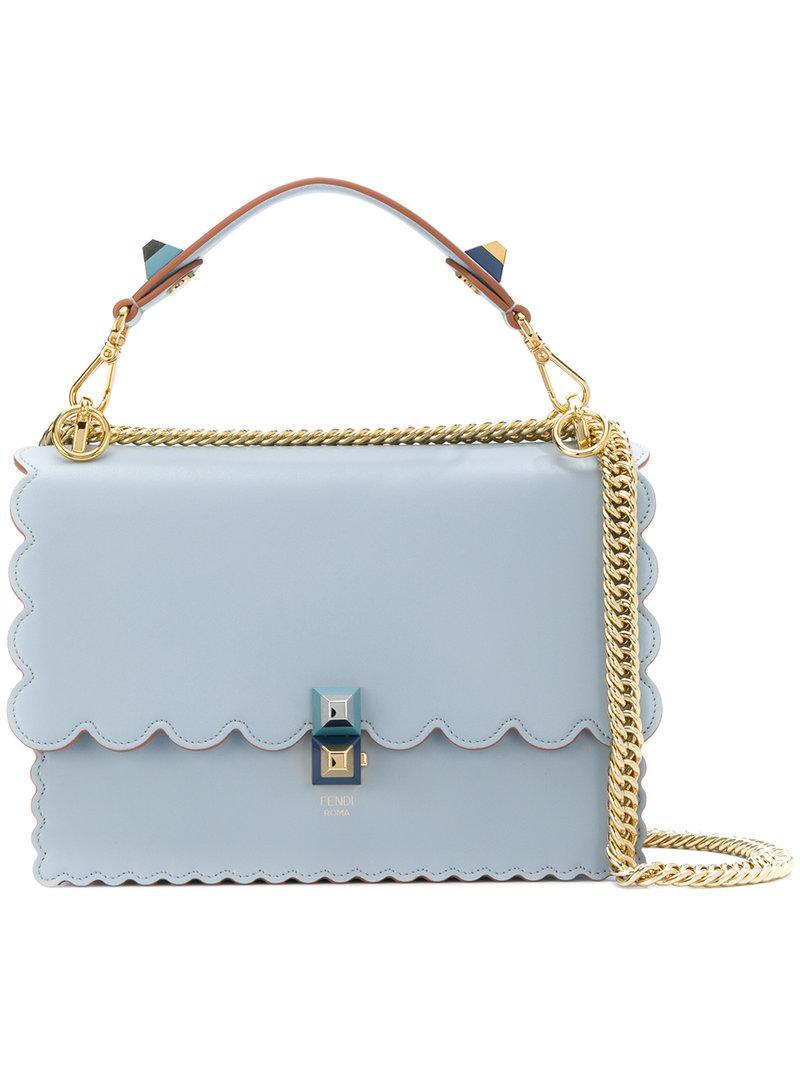 Fendi Petit sac porté épaule Blue Kan I zrcAmJ