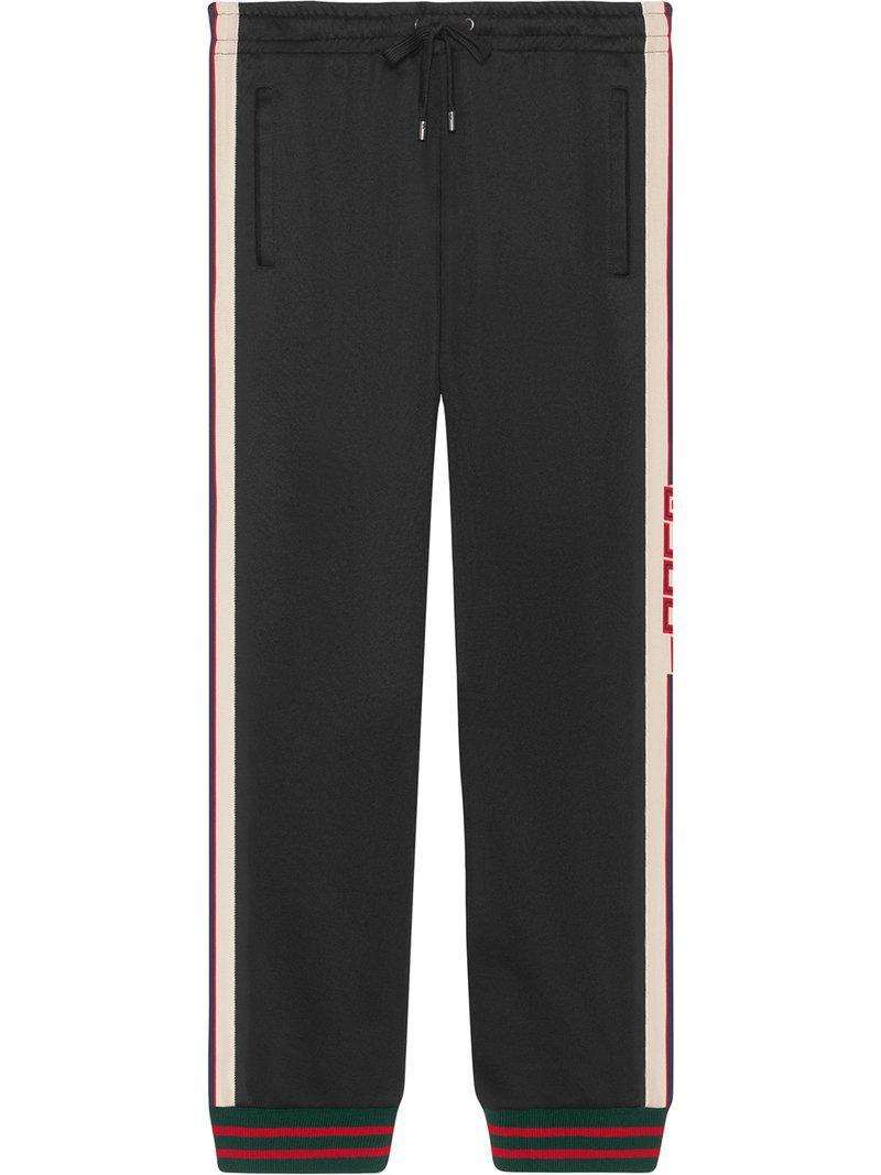 f7772bccdb24b Lyst - Pantalones de punto técnico Gucci de hombre de color Negro