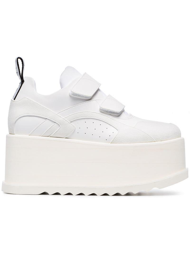 661532df44f Lyst - Stella McCartney White Eclypse Velcro Sneakers in White - Save 6%