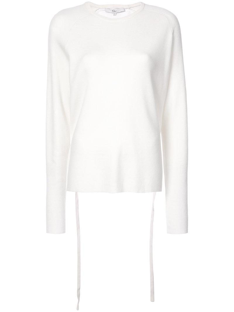 Purchase Tibi ruched back sweater Outlet Manchester Great Sale Best Price Where Can I Order Comfortable 4Hv07OFbSU
