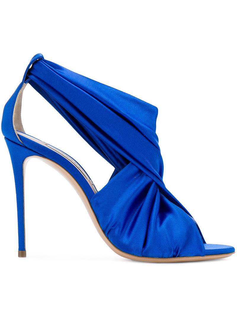 ruffled sandals - Blue Casadei jMu5ahEu