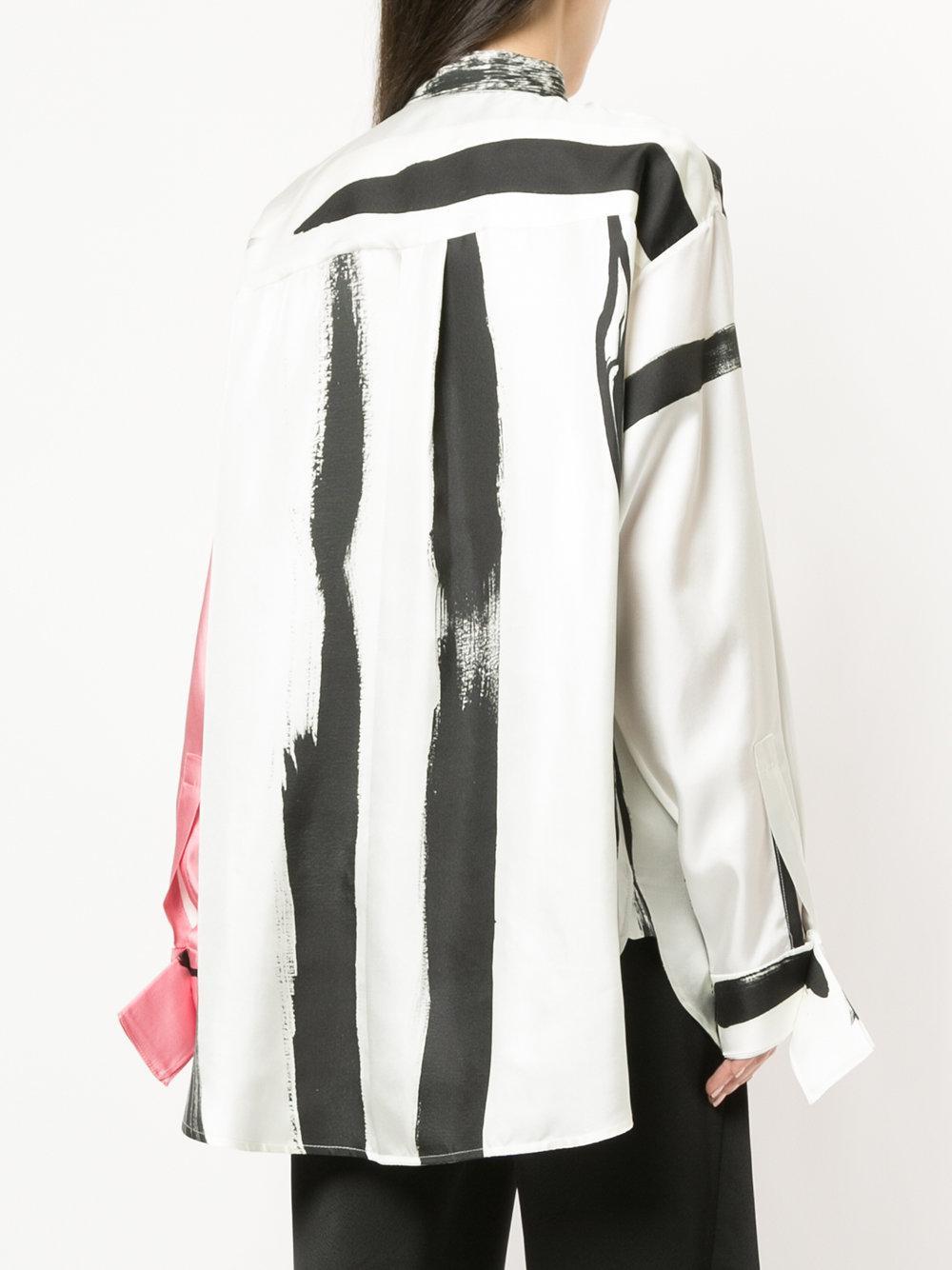 painterly stripe drape detail spaghetti top - White CHRISTOPHER ESBER Cheap Sale 100% Authentic K5QMUl