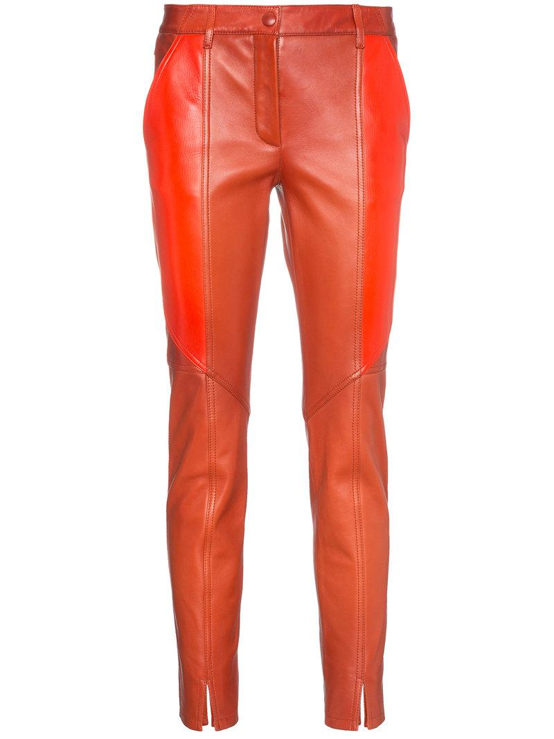 panelled leather skinny trousers - Red Givenchy h8FH55HN